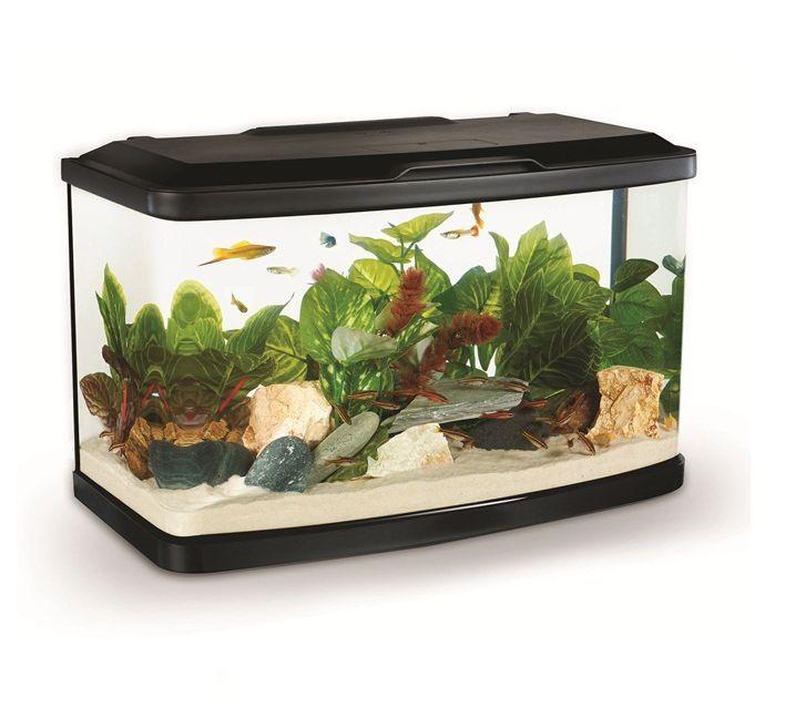 Marina vue fish tank black aquarium cabinet led filter for Marina fish tank