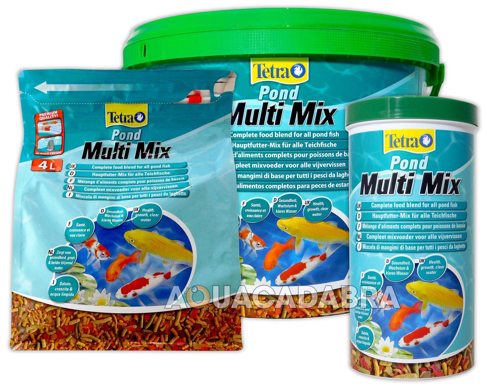Tetra Pond Multi Mix Fish Food Koi Sticks 1l 4l 10l Garden