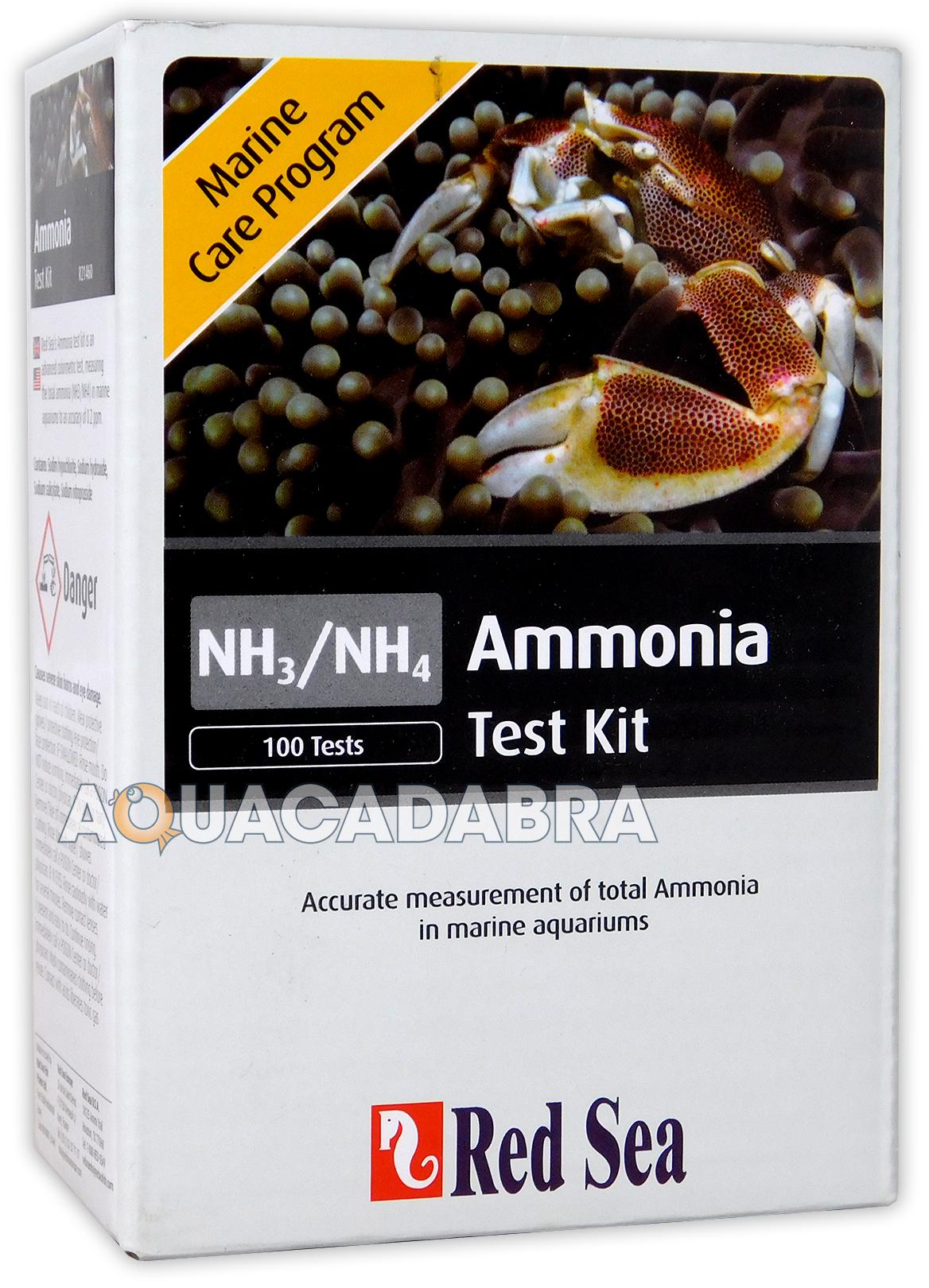 Red sea ammonia test kit nh3 nh4 marine care program fish for Ammonia in fish tank