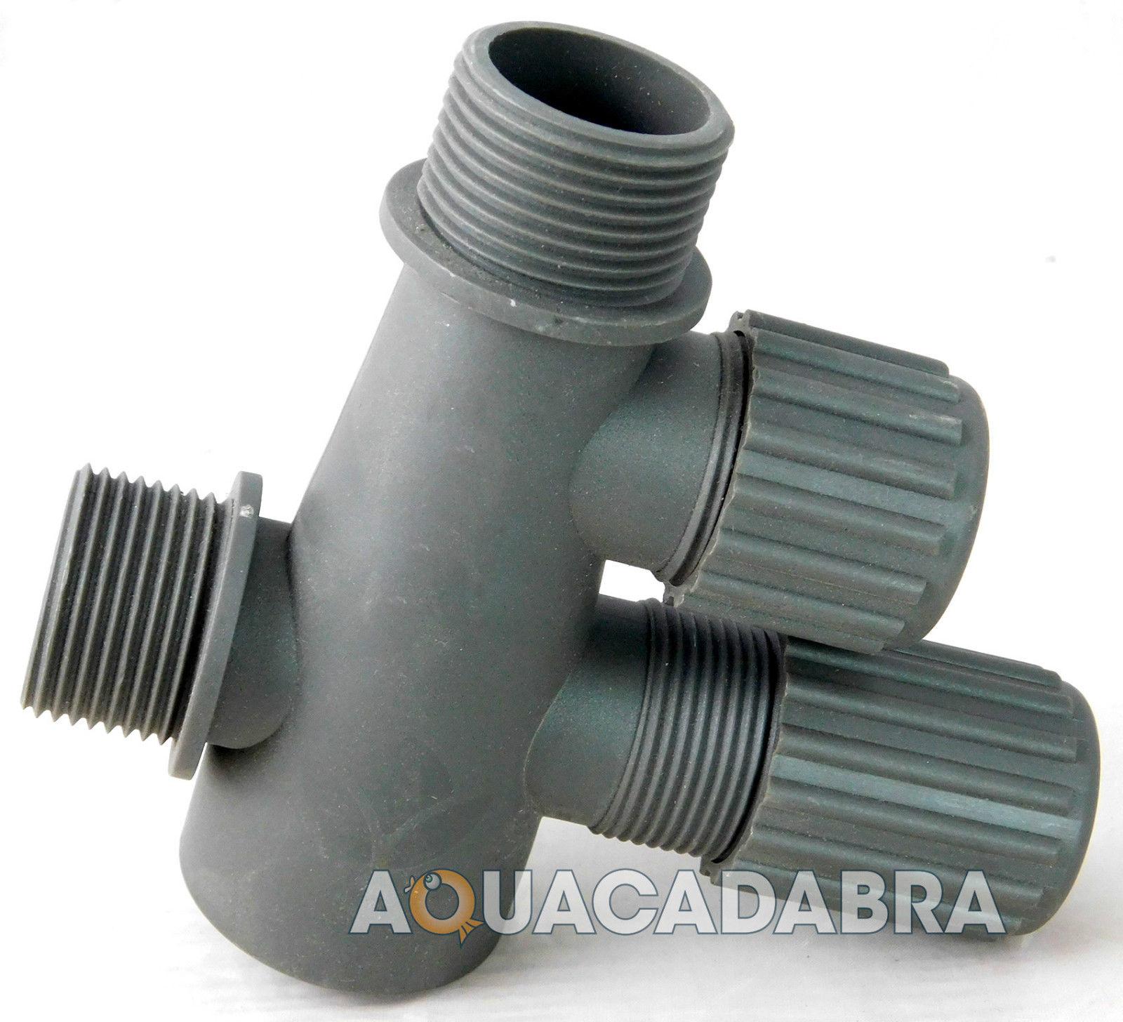 Lotus adjustable fountain t piece garden koi pond pump for Garden pond hose connectors