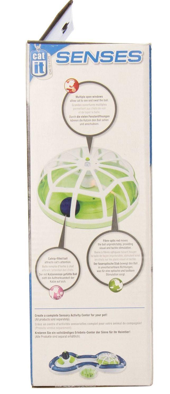 Cat It Design Electronic Roundabout Catnip Fibre Optic Ball Mouse Optick Voltre Kitten Toy