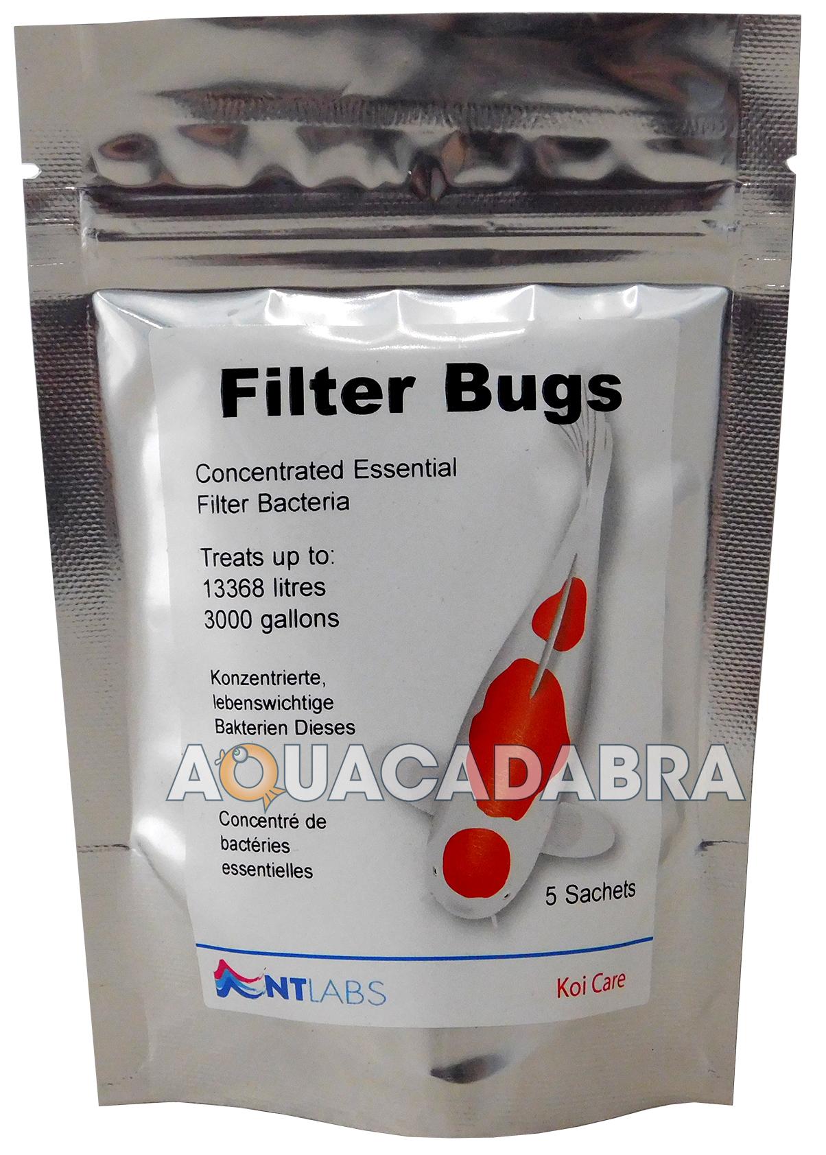 Nt labs filter bugs 5 sponge pads start koi fish ponds for Fish pond filter sponges