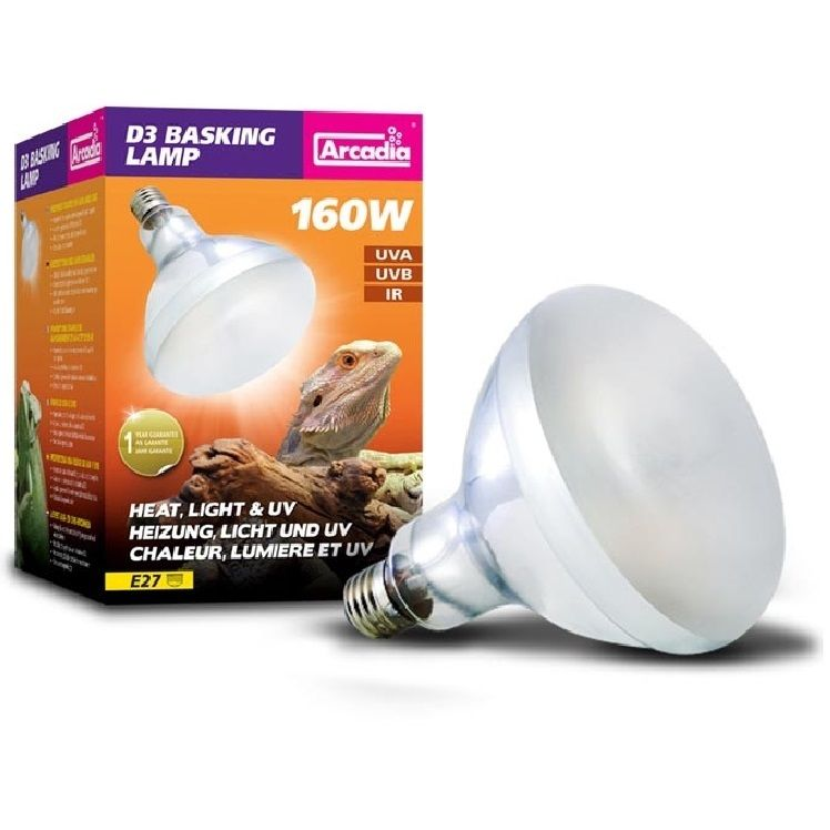 Arcadia D3 Reptile Basking Lamp Bulb Heat Light Uv Uvb