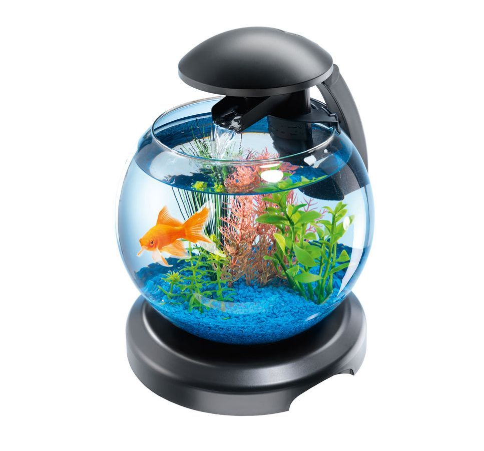 Tetra cascade globe led light waterfall feature fish tank for Tetra fish tank