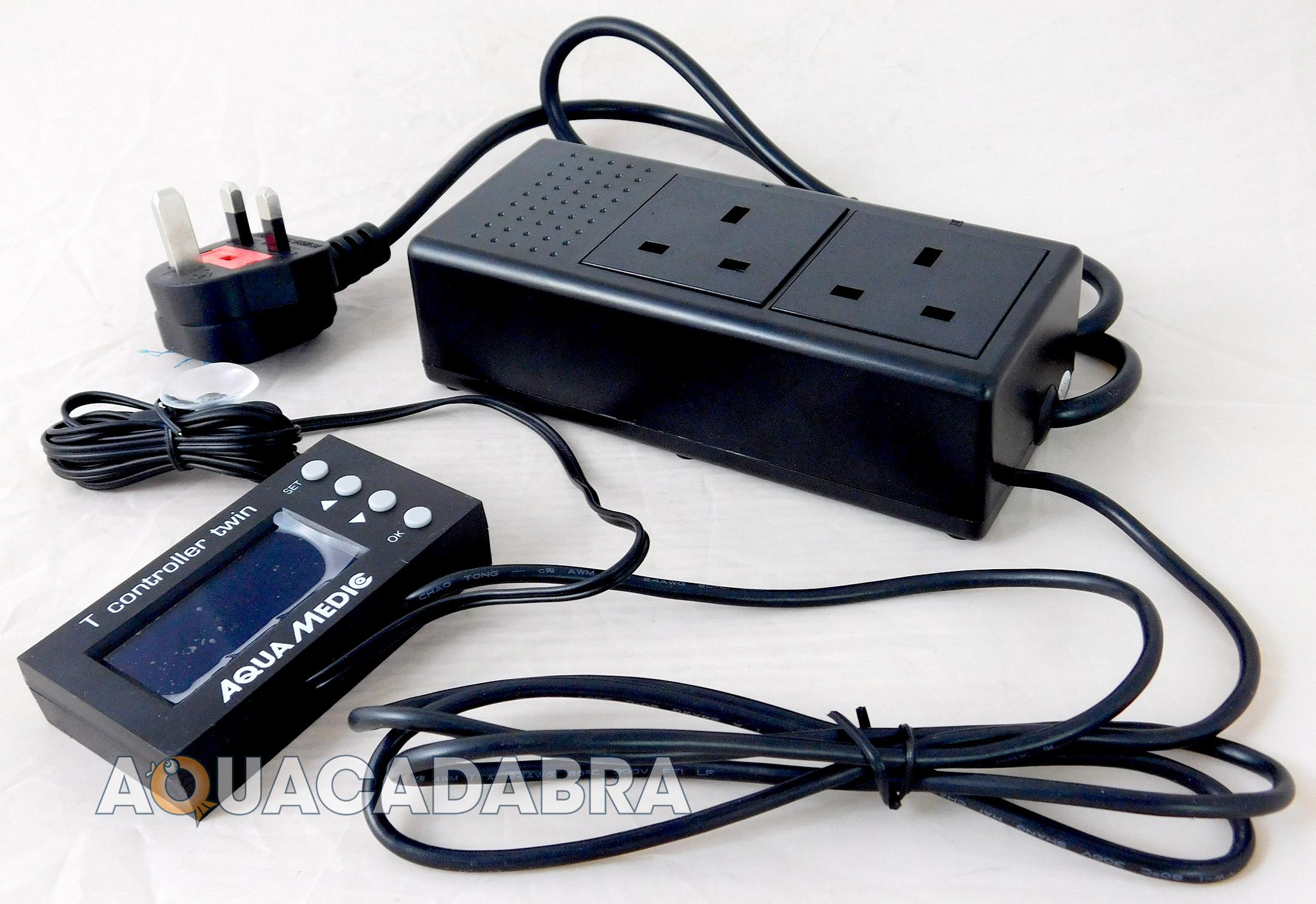 Aqua Medic T Controller Twin Digital Temperature Monitor Heater Cooling Fan Fish
