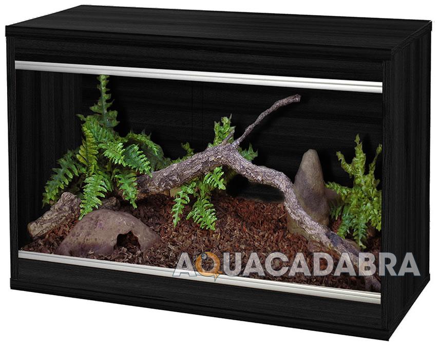 Vivexotic Black Viva Repti Home Wooden Vivarium Reptile