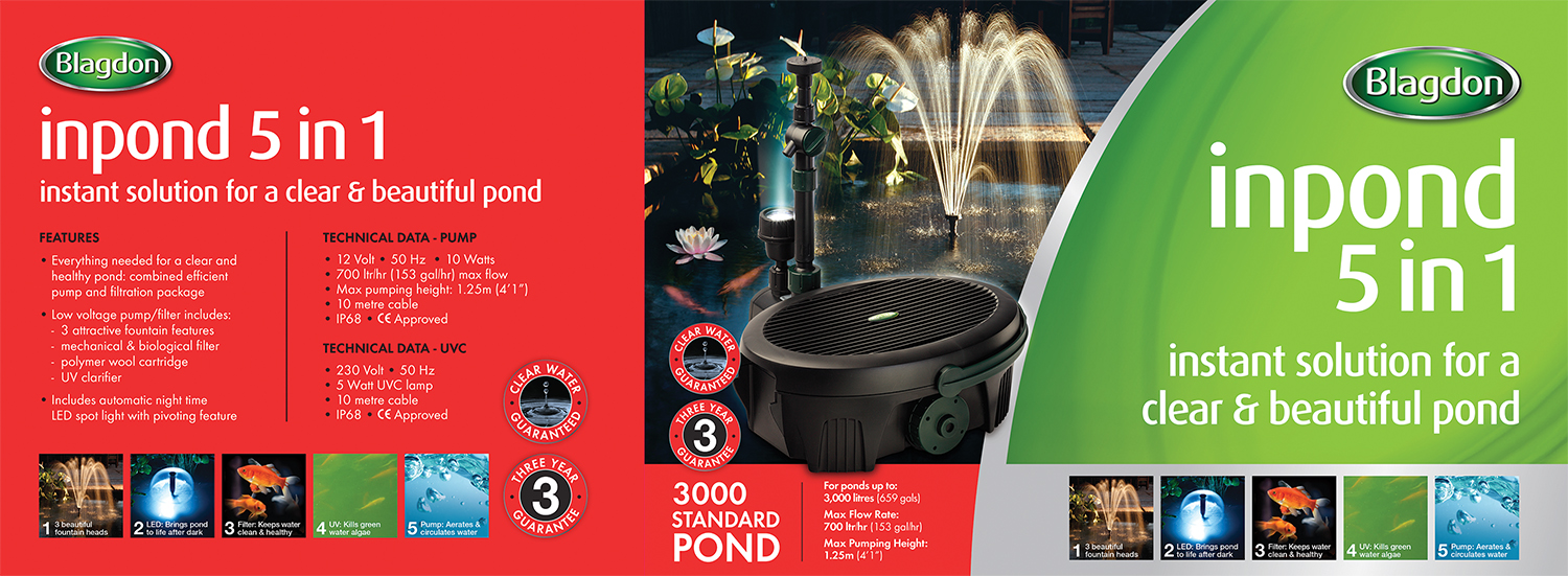 Blagdon Inpond Filter Uvc Pond Submersible Pump Led Light