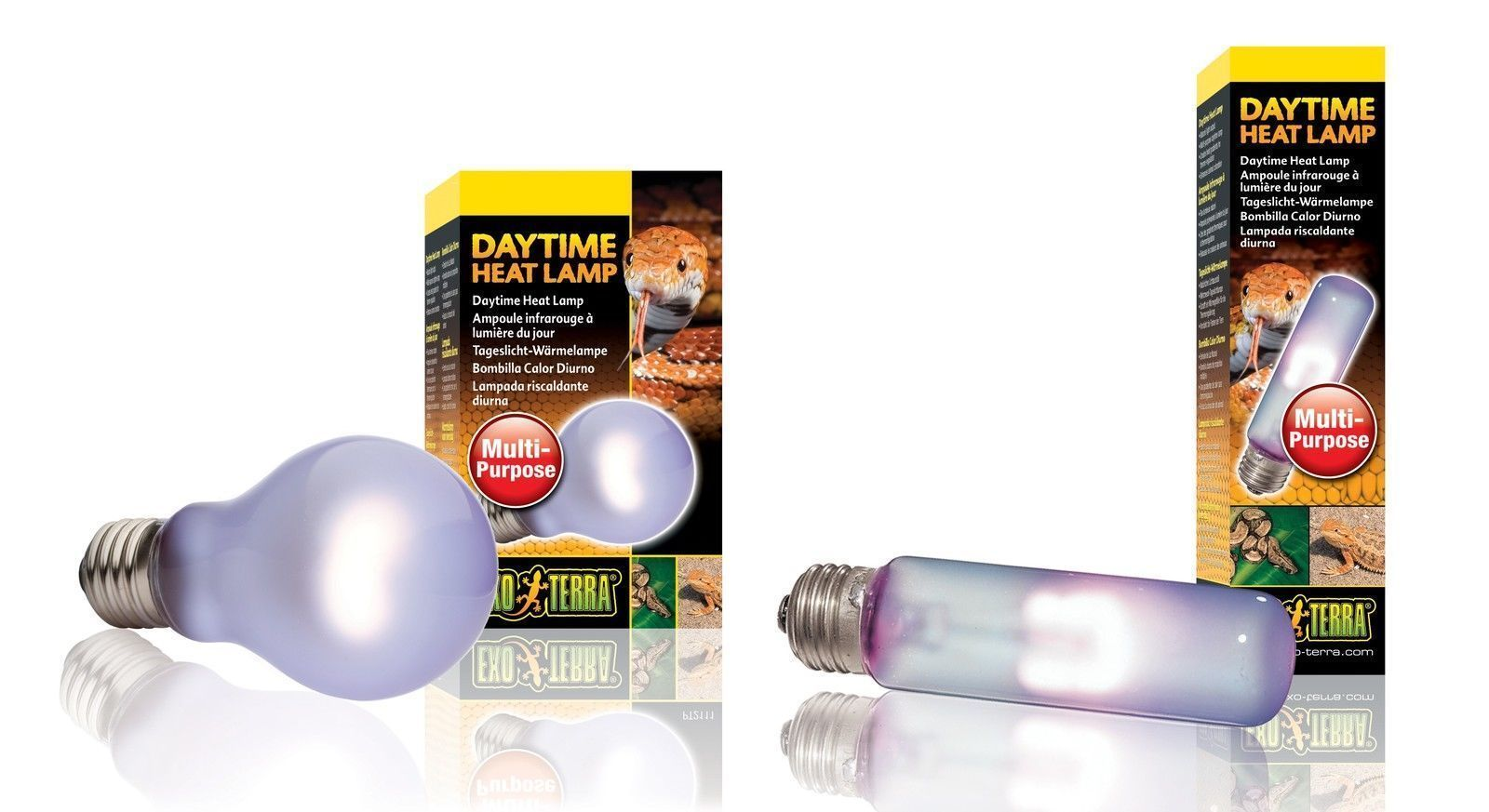 Exo Terra Daytime Heat Lamp Light Bulb Tube Reptile