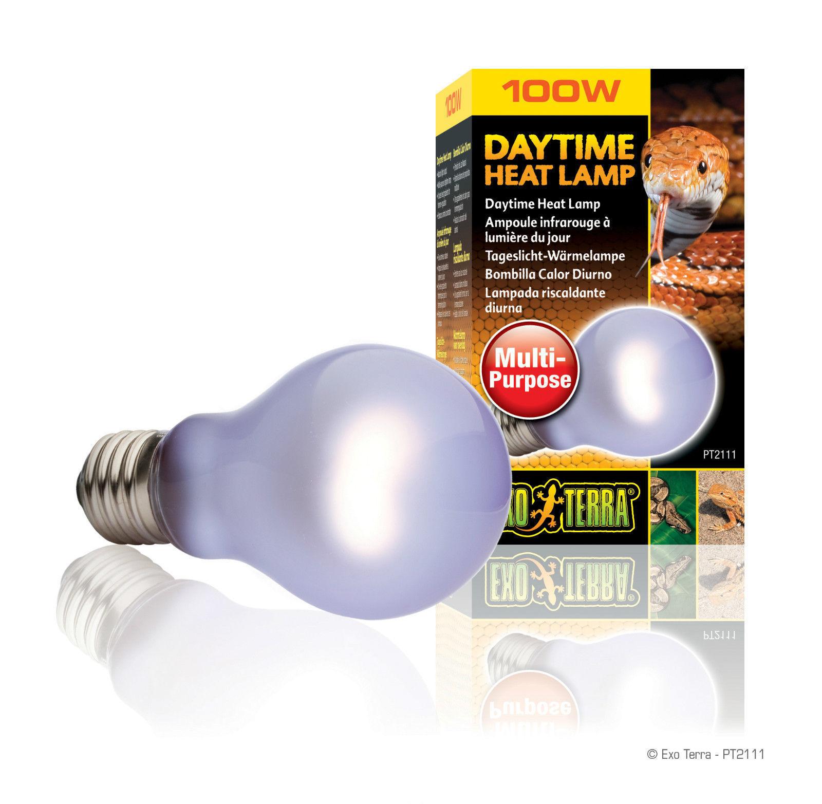 Exo Terra Daytime Heat Lamp Light Bulb Tube Reptile