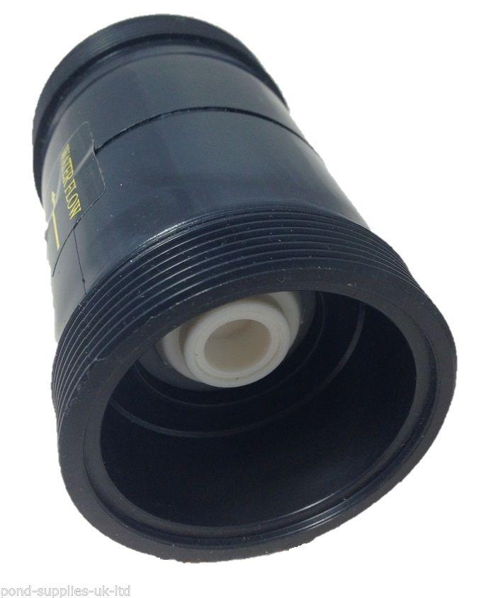 Inline Pond Pipe Hosing Non Return Valve 50mm Hosetail One