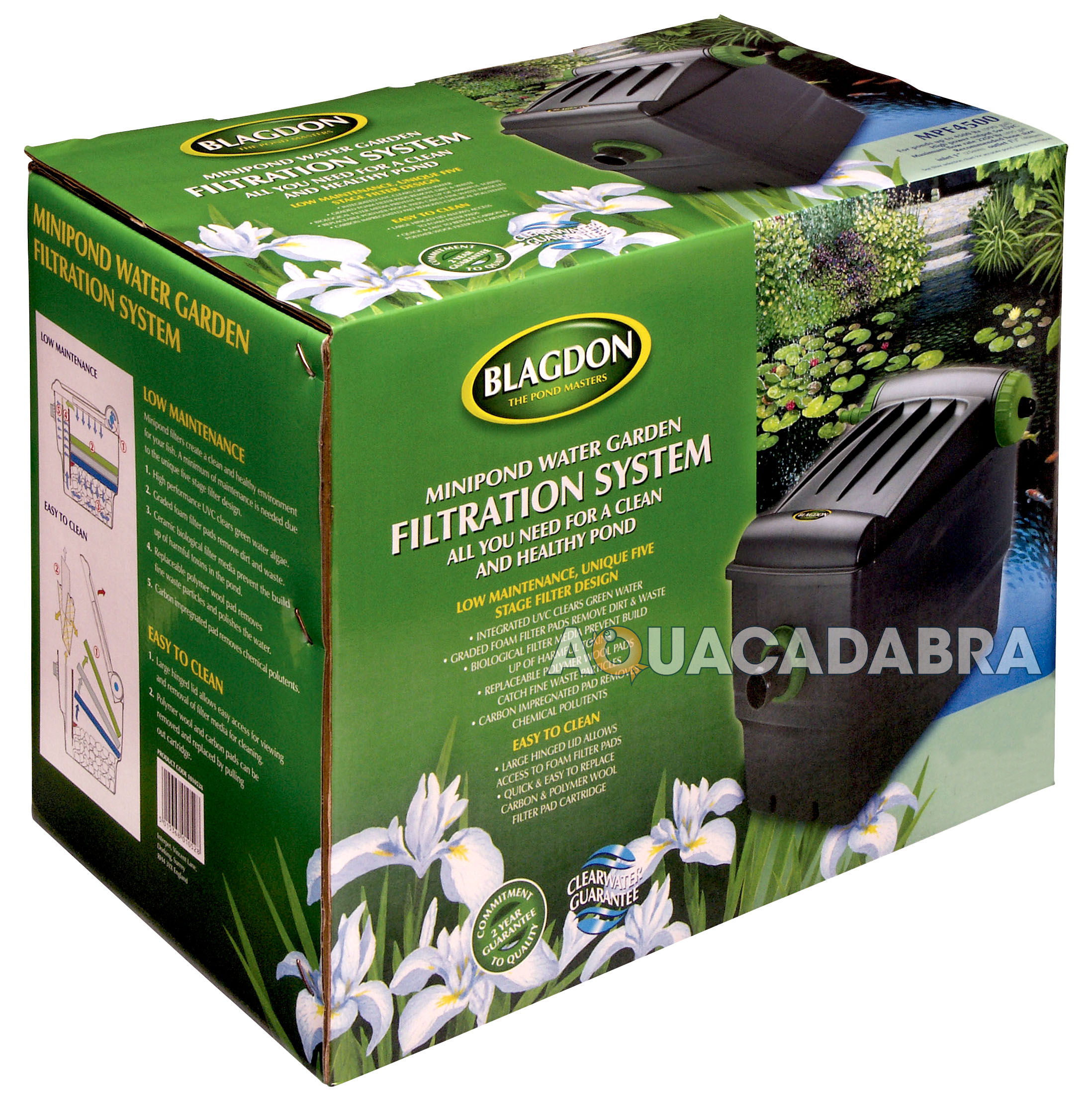 Blagdon Minipond 6000 Filter Uv Gravity 9w Uvc Pond Garden