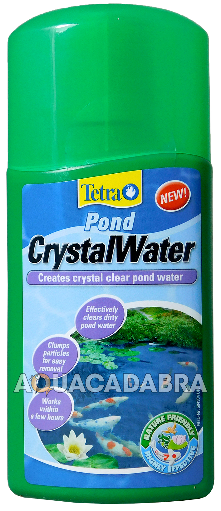 Tetra crystal water clear pond fish treatment 250ml koi for Koi pond water murky