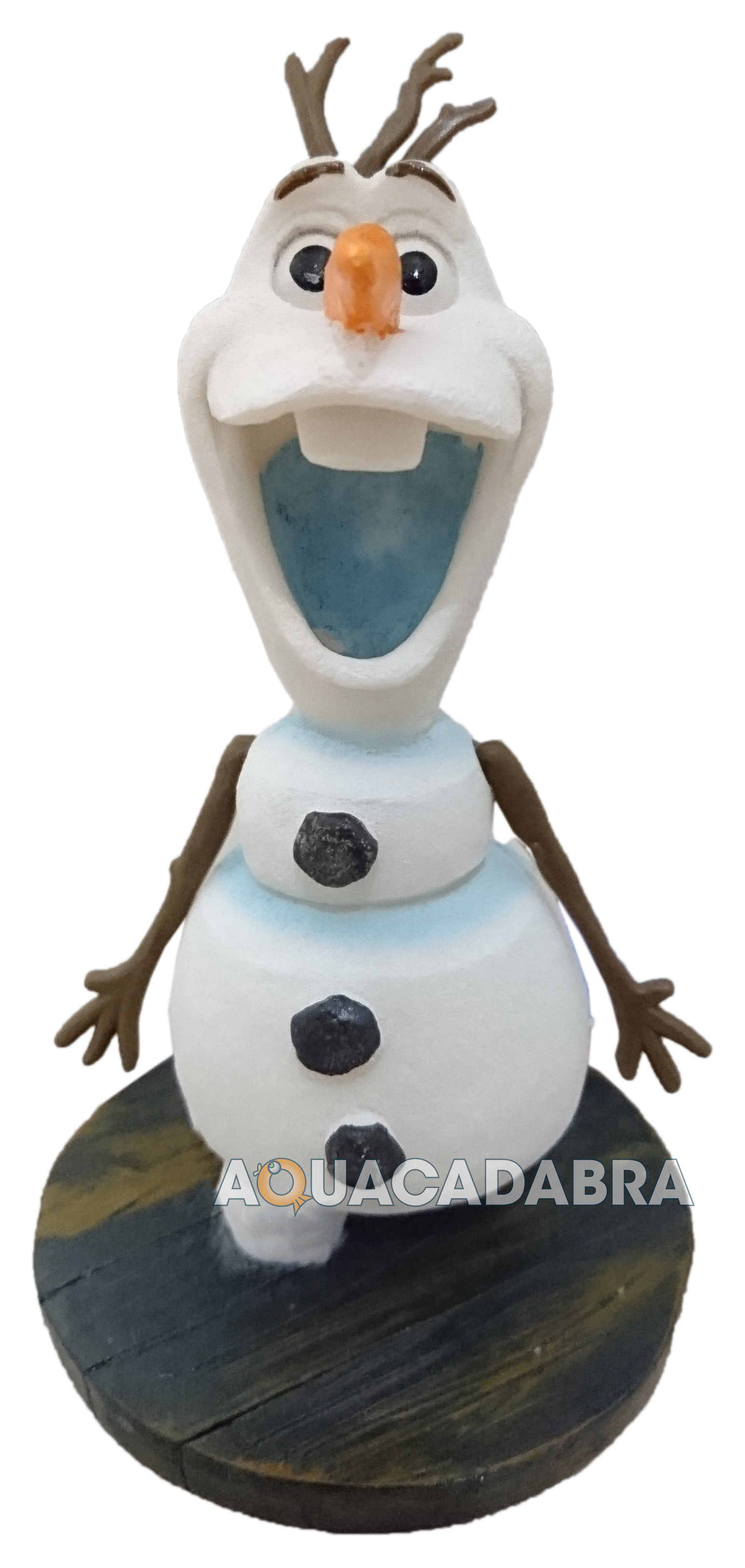 Disney frozen elsa anna olaf ice castle ornament penn plax for How to make ice in a fish tank
