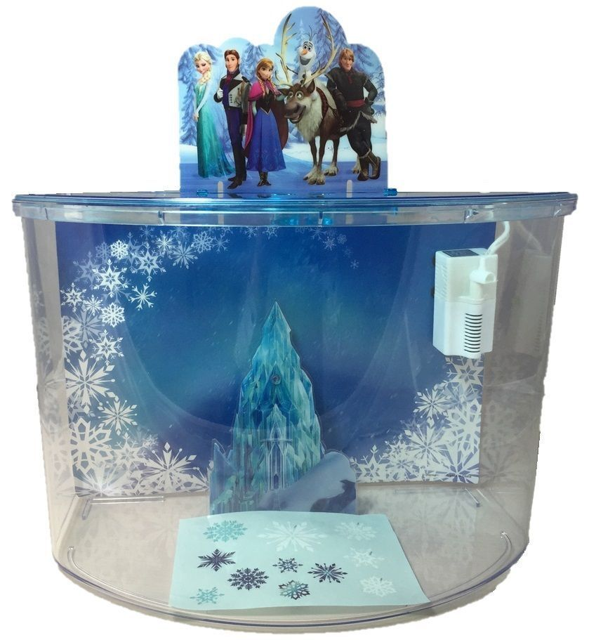 Disney frozen elsa anna olaf castle ornament penn plax for Disney fish tank