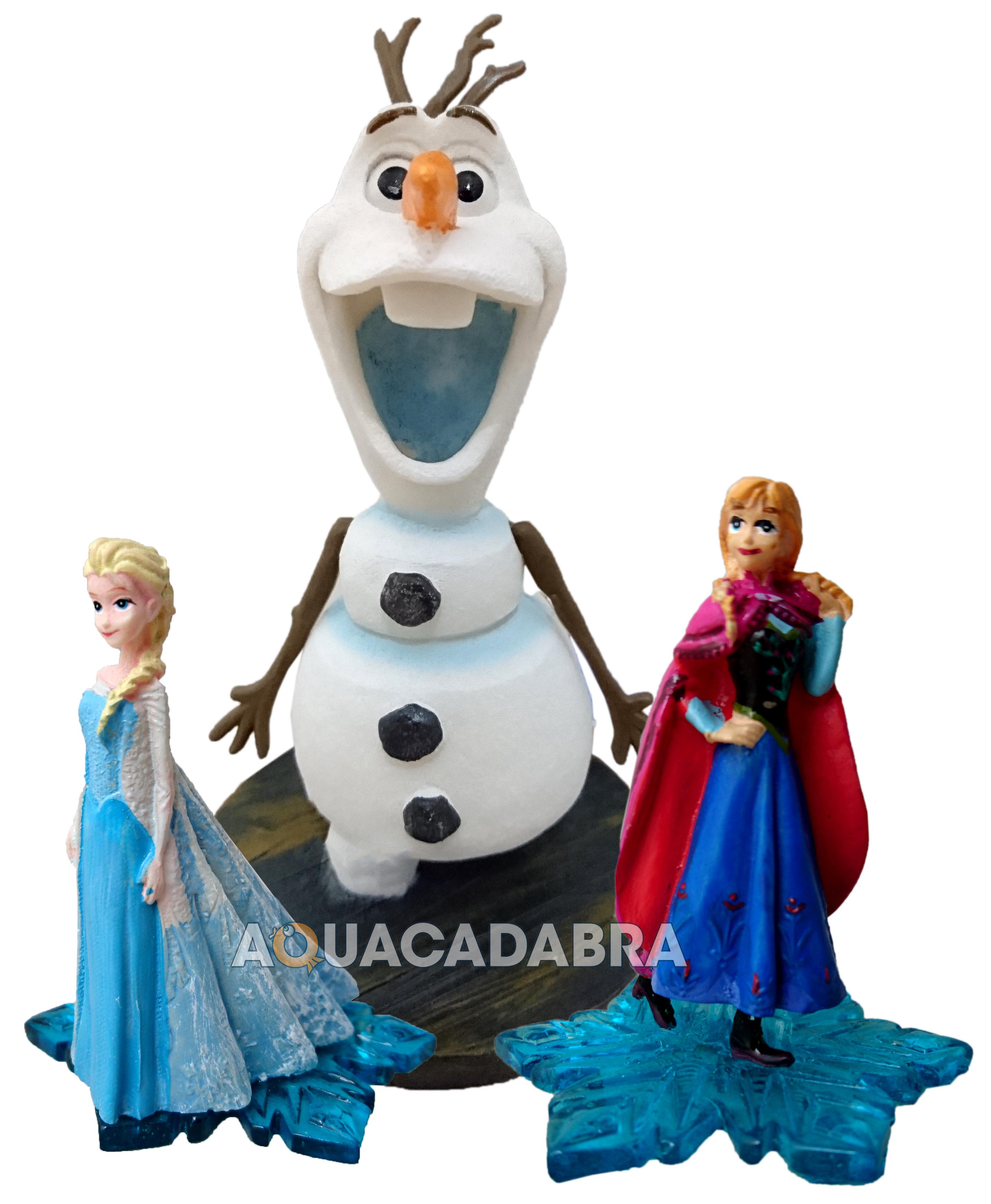 disney frozen elsa anna olaf ice castle ornament penn plax fish