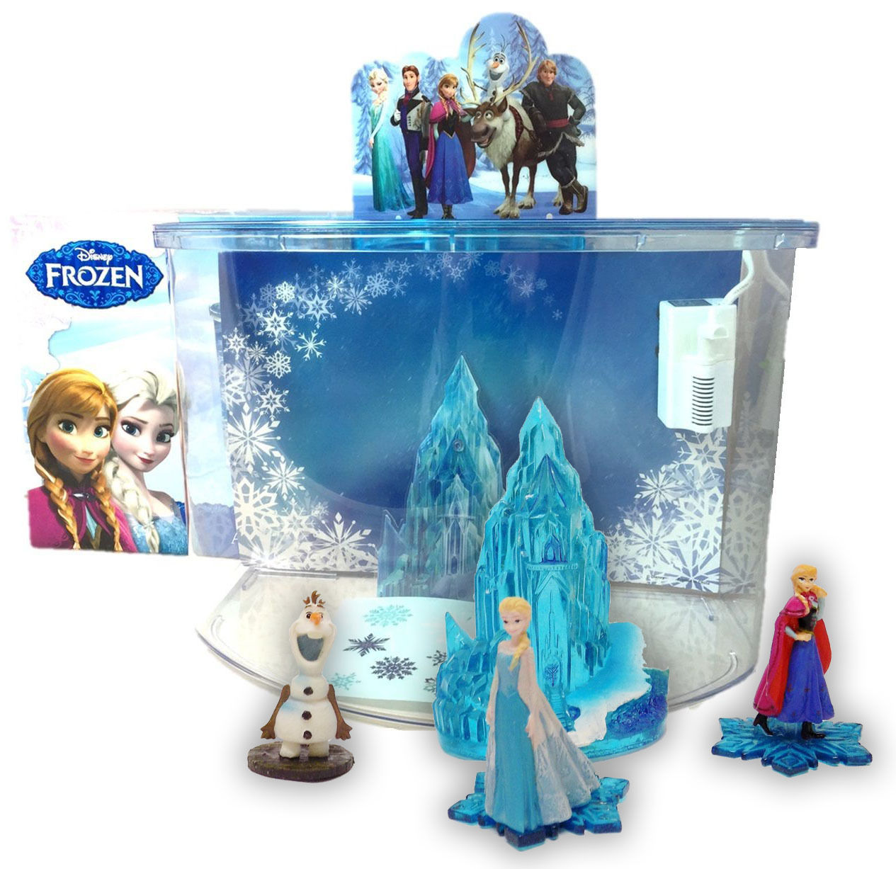 Disney frozen elsa anna olaf castle ornament penn plax for Aquarium decoration sealant