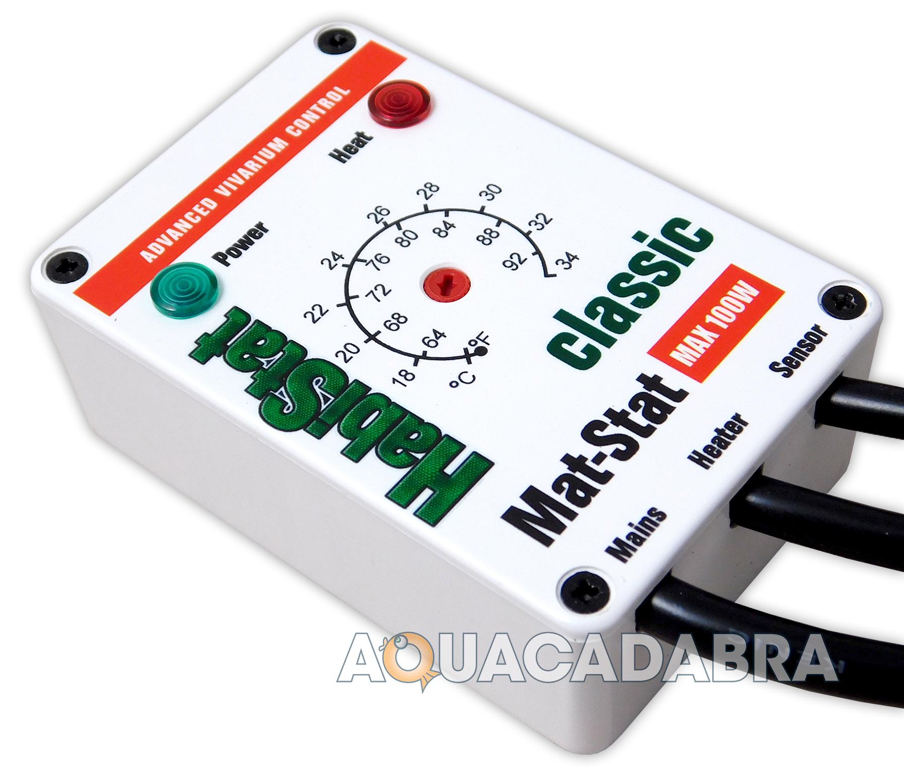 Habistat Mat Stat Thermostat White For Heat Mat Vivarium
