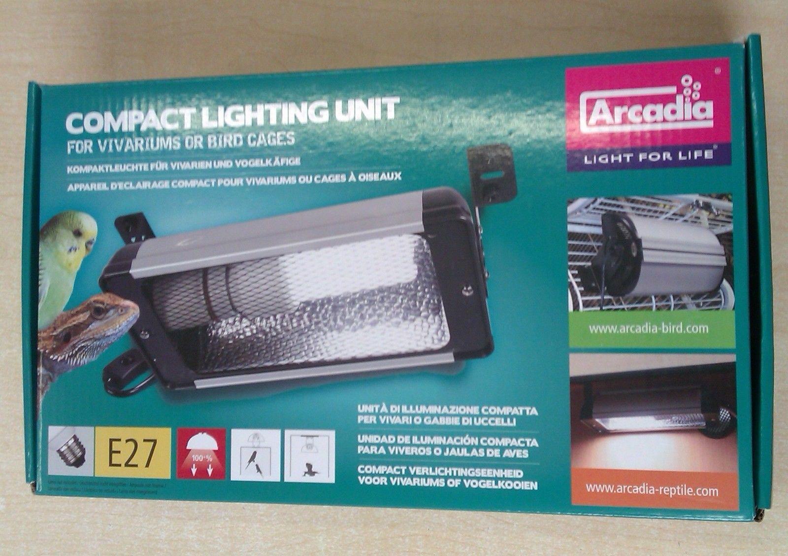 Arcadia Compact Lighting Unit Vivarium Bird Cage E27 Uvb