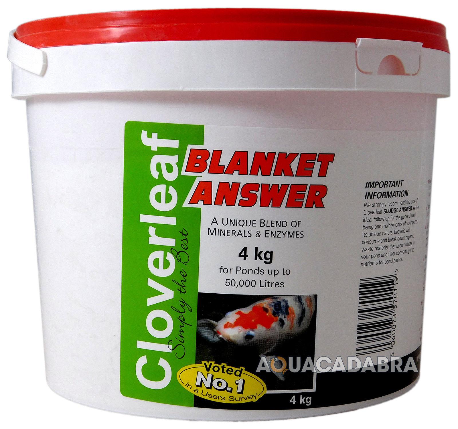 Cloverleaf blanket answer 200g 800g 2kg 4kg koi fish pond for Koi pond products