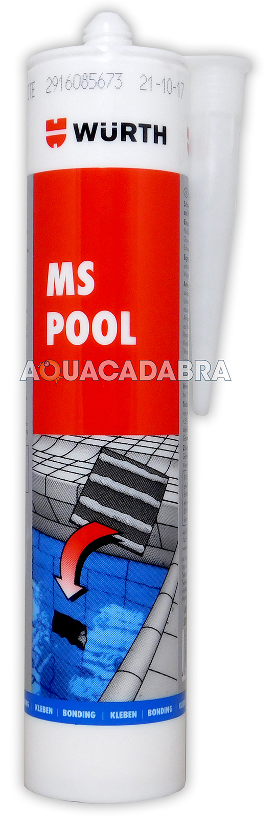 Wurth Ms Pool Adhesive Underwater Seal Tile Glass Metal