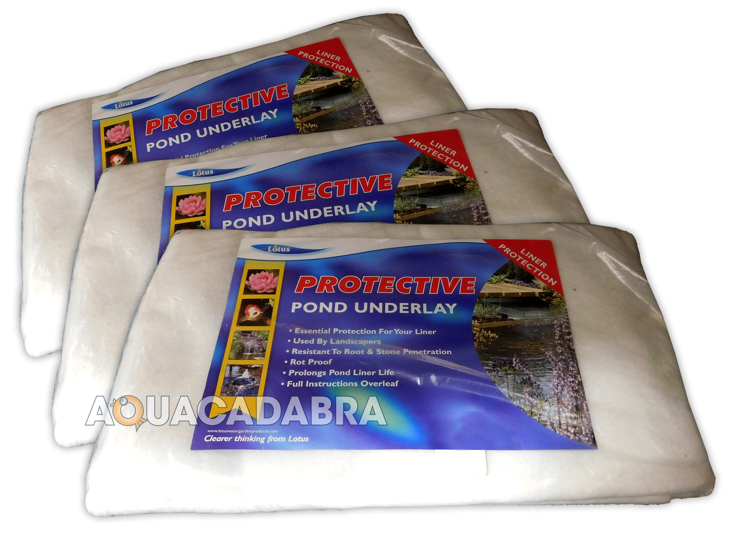 Lotus pond underlay liner protection rot proof root for B liner fish
