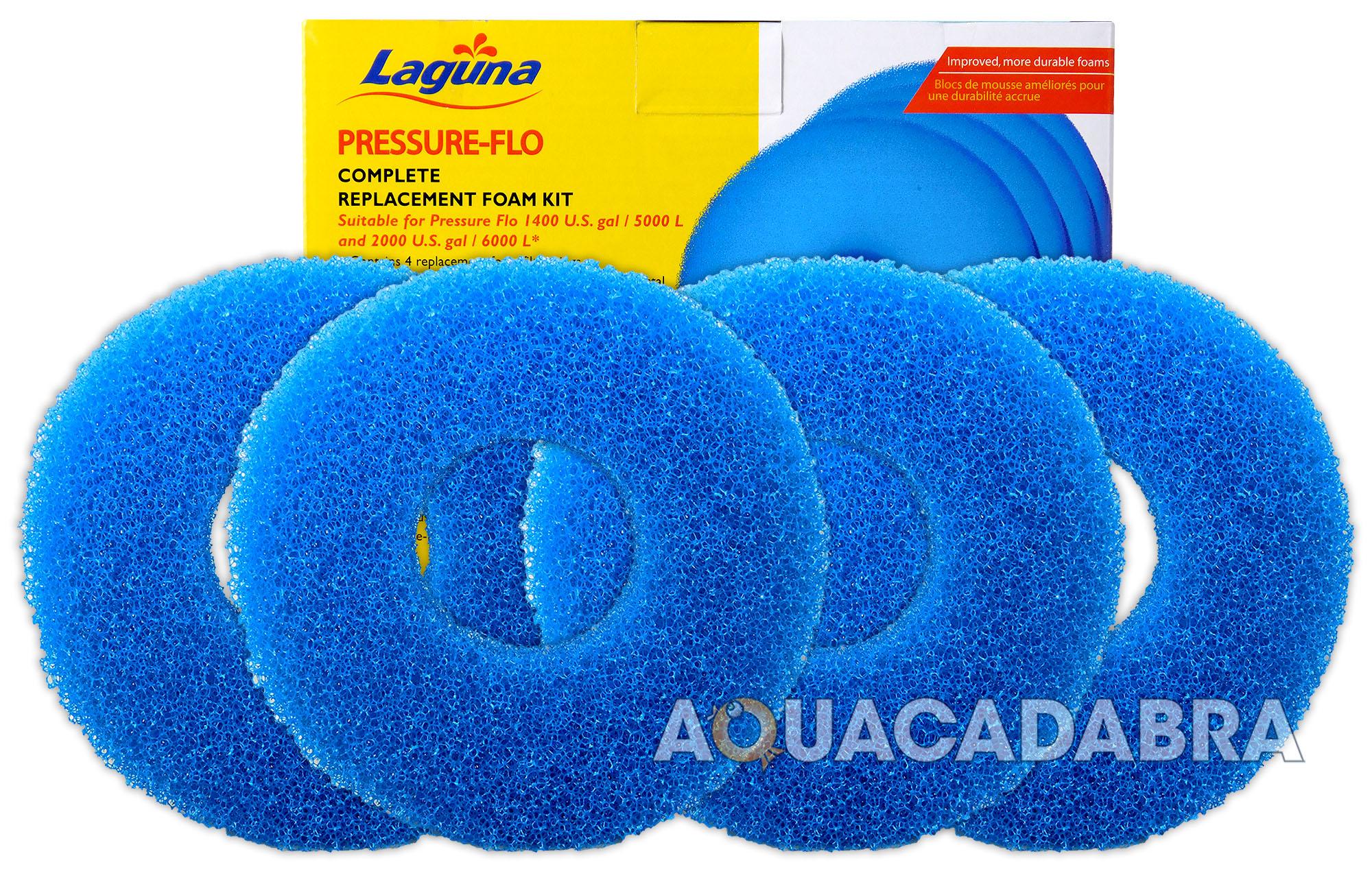 Laguna pressure flo 5000 6000 filter foam kit set pt1736 for Foam in koi pond
