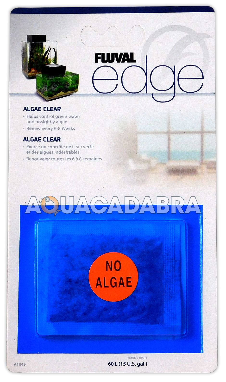Fluval edge fish tank algae clear sachet for filter green for Green water in fish tank