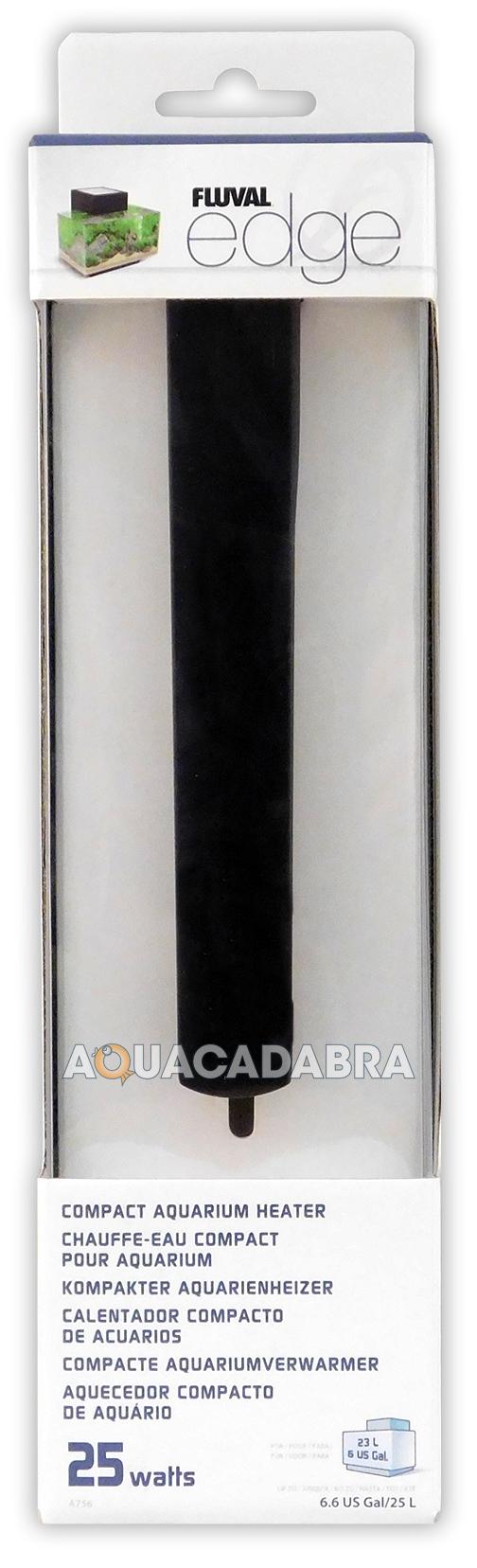 Fluval Edge Compact Aquarium Heater Stat 25w 23l 23 Litre