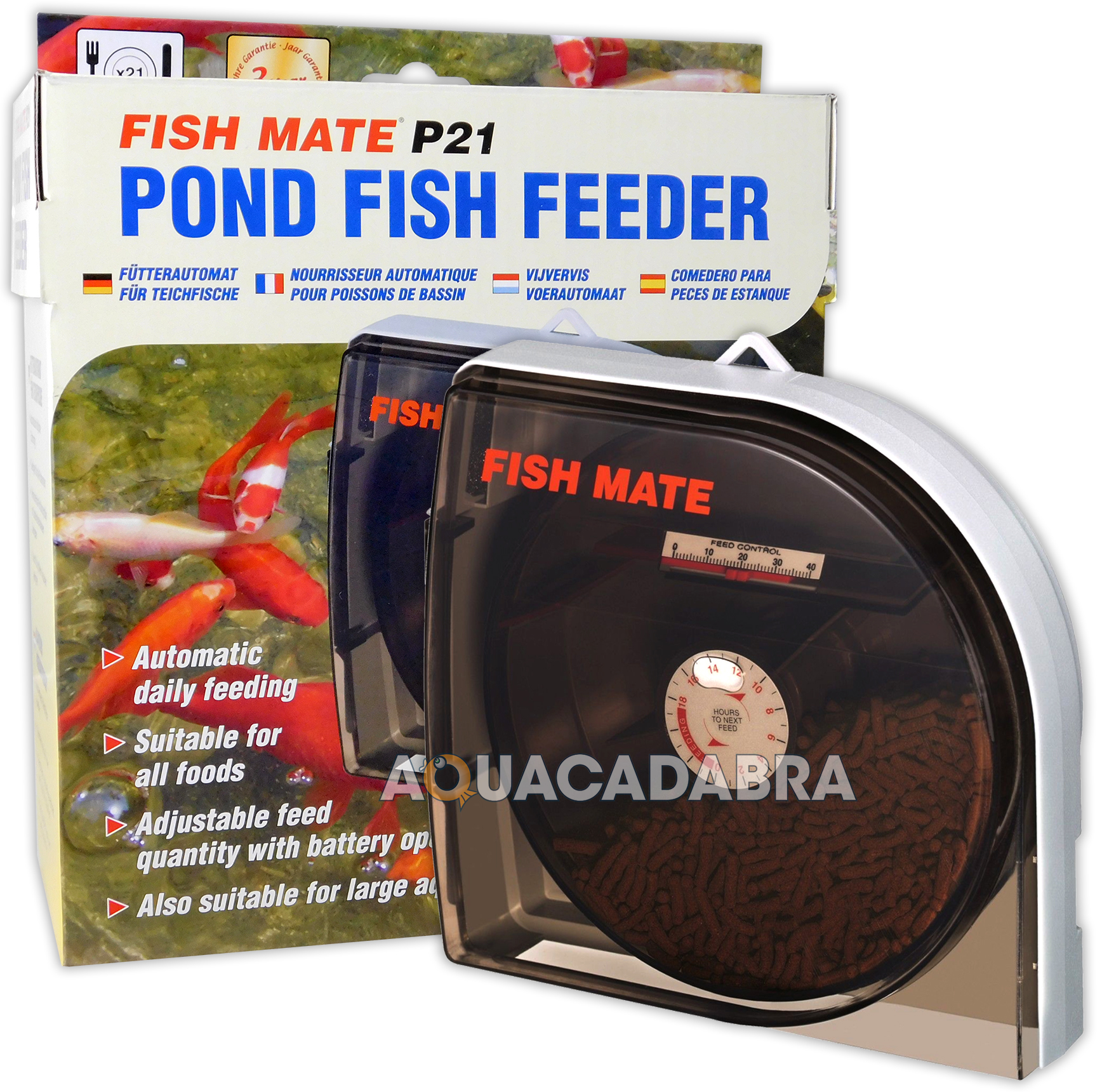 Fish mate automatic feeder auto pond aquarium tank holiday for Koi pond motors
