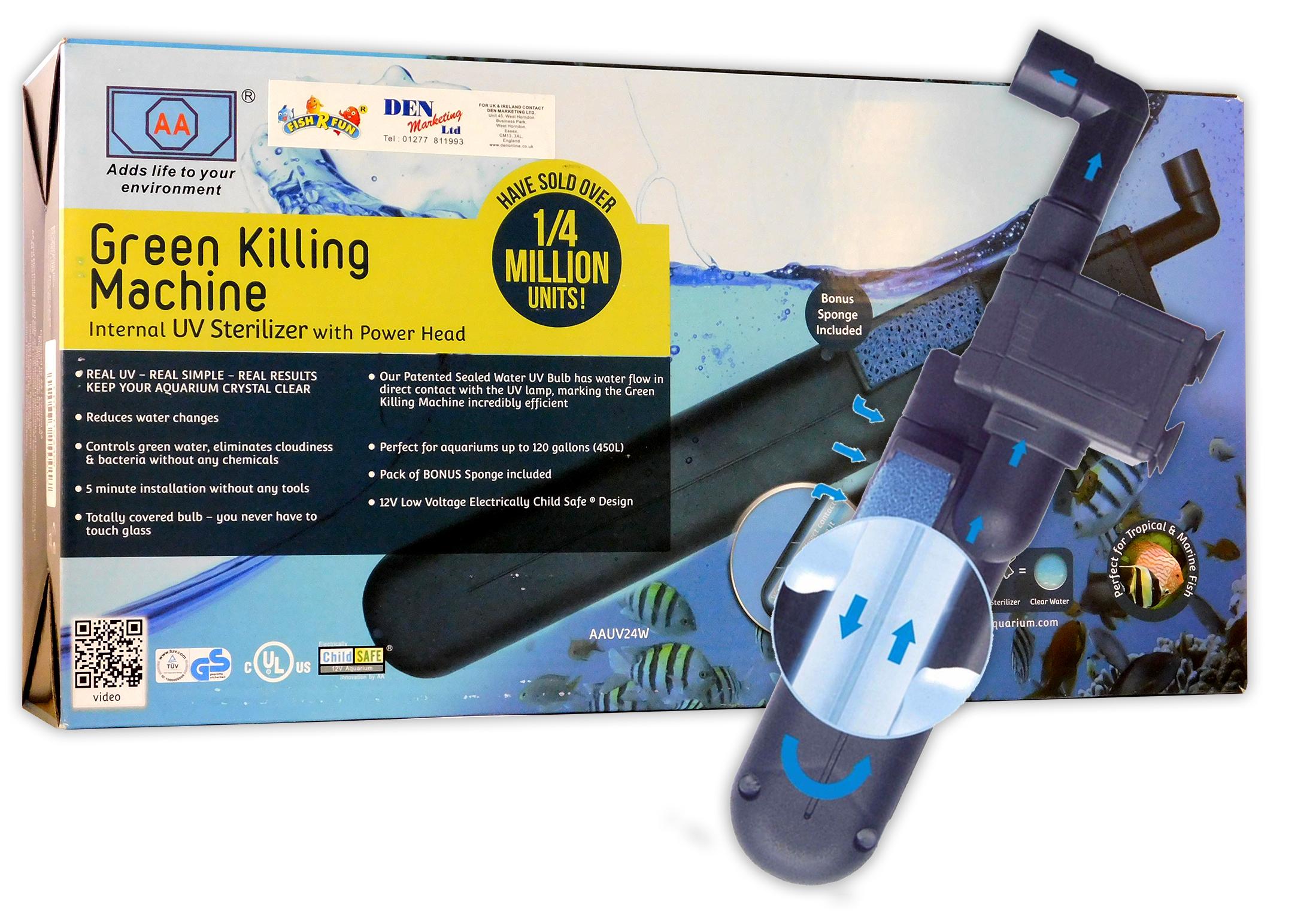 Fish-R-Fun-UV-Sterilizers-9W-24W-Internal-Aquarium-Water-Clarifier-Fish-Tank thumbnail 4