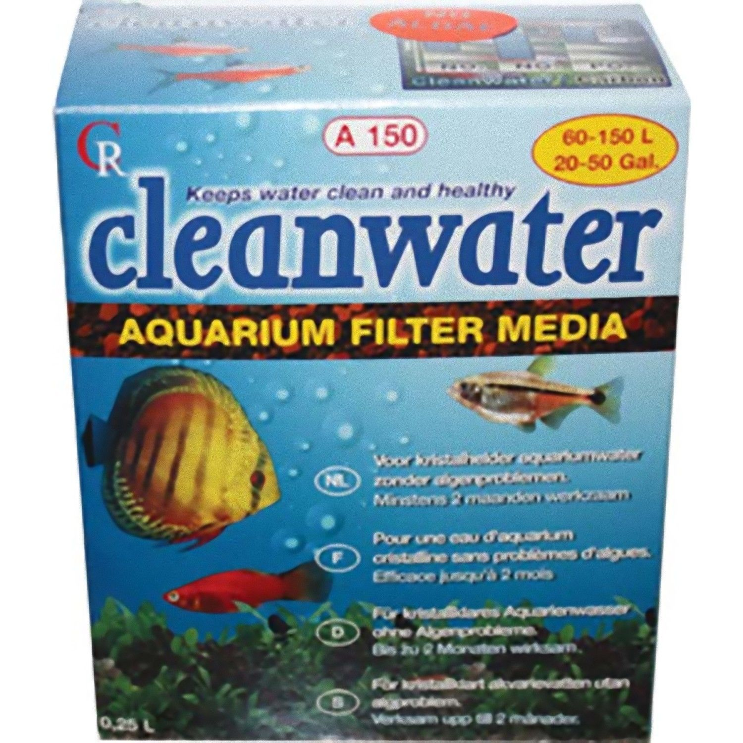 Cleanwater a150 filter media algae crystal clear water for Clear water fish tank