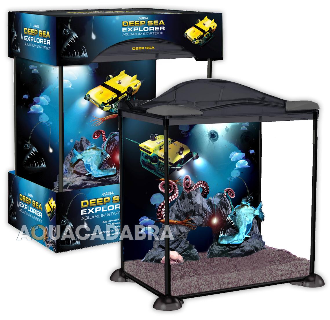 Marina Deep Sea Explorer Aquarium 17l Starter Fish Tank