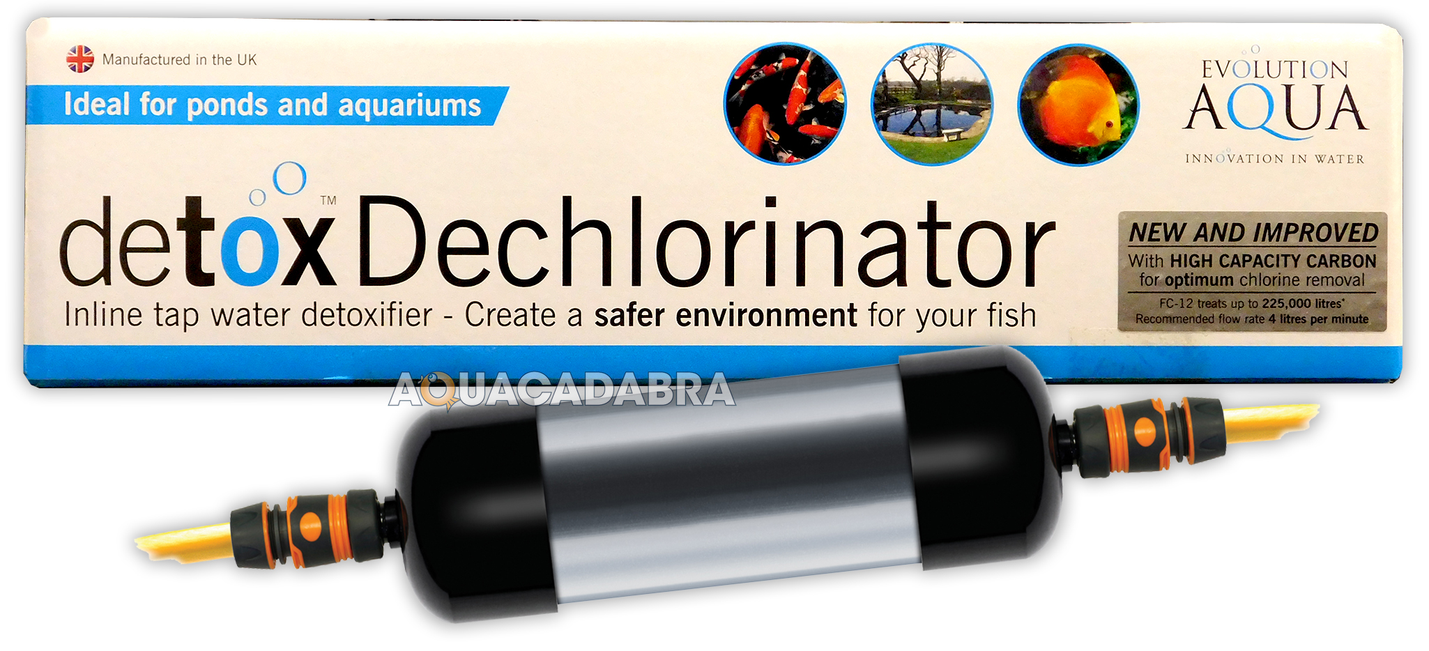 Evolution aqua detox dechlorinator carbon garden pond koi for Dechlorinator for koi ponds