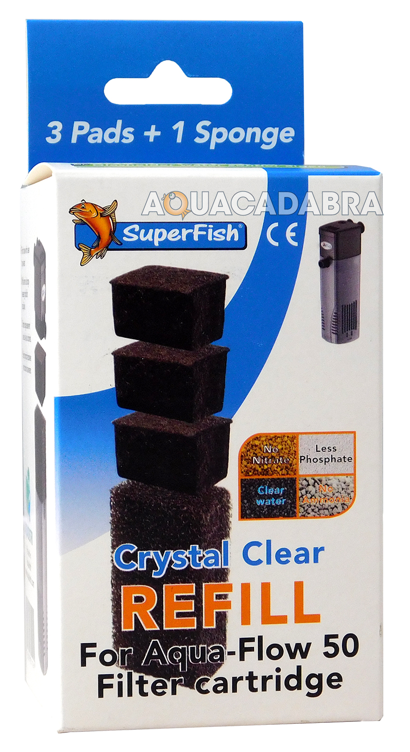Superfish crystal clear water aqua flow filter cartridges for Clear water fish tank