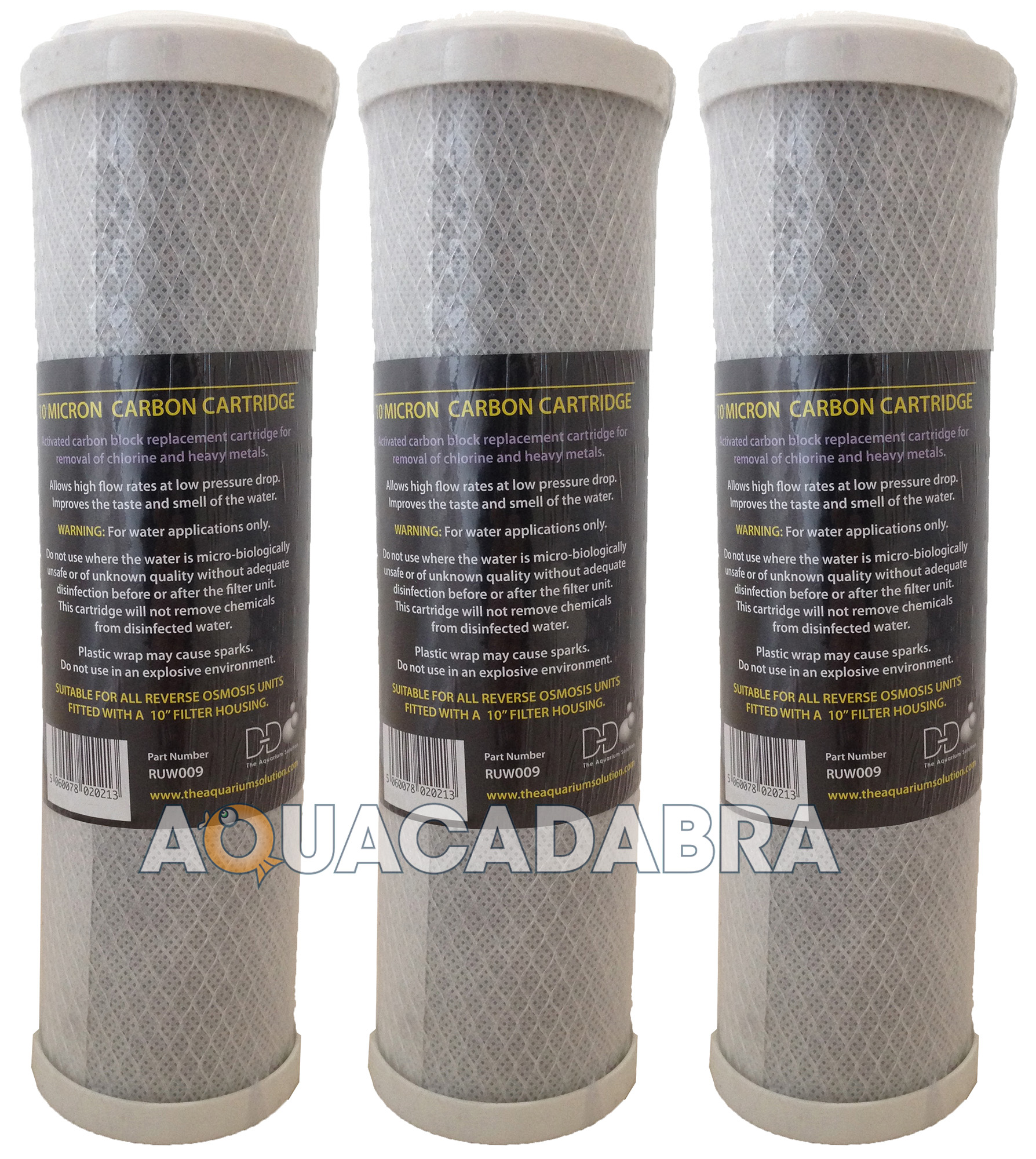 3 x 10 carbon water purifier filter cartridges koi pond for Charcoal pond filter