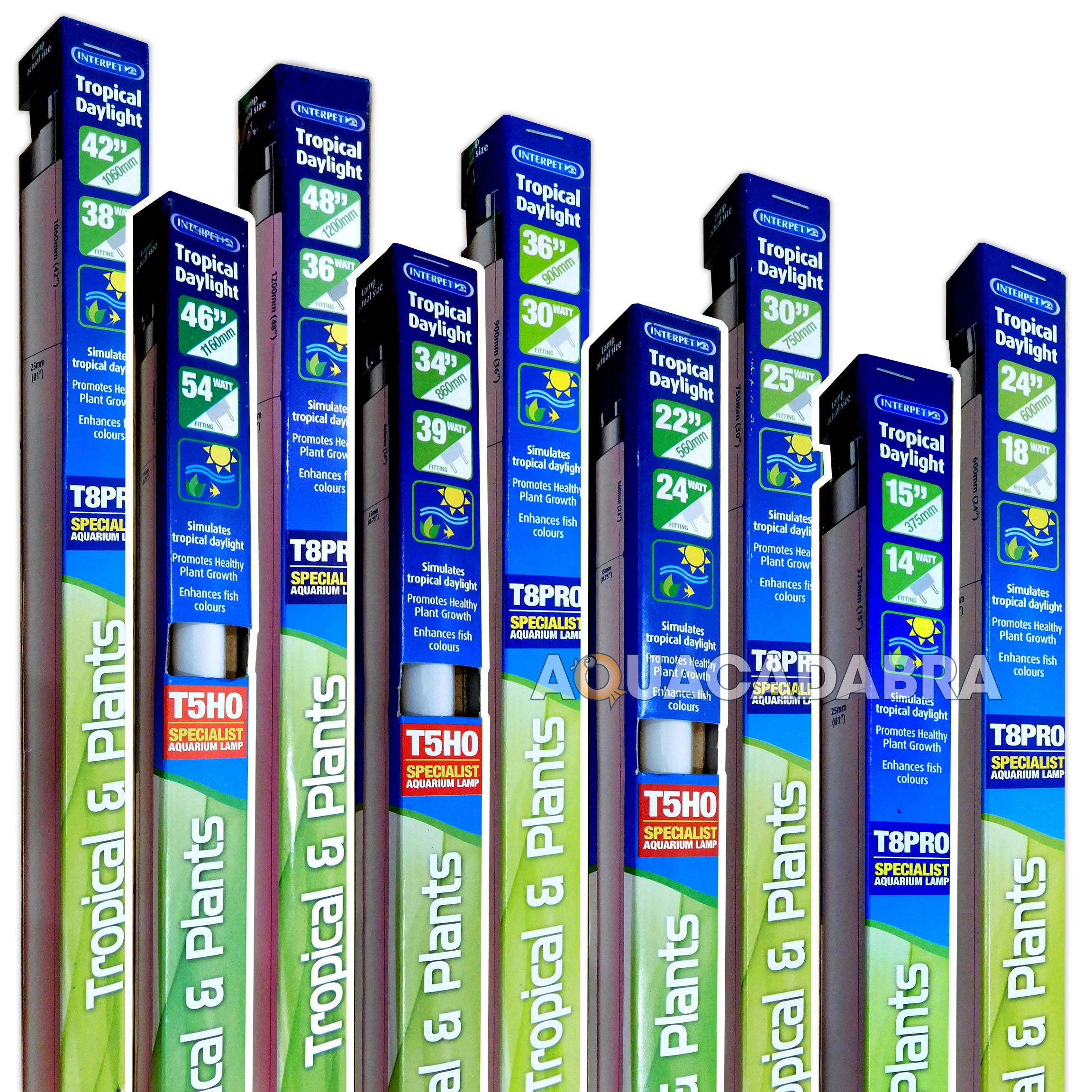Interpet tropical daylight t5 ho t8 light bulb lighting for Tube neon aquarium