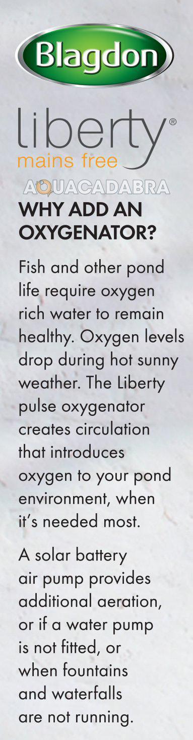 Blagdon Liberty Pond Oxygenator Air Pump Aeration Solar