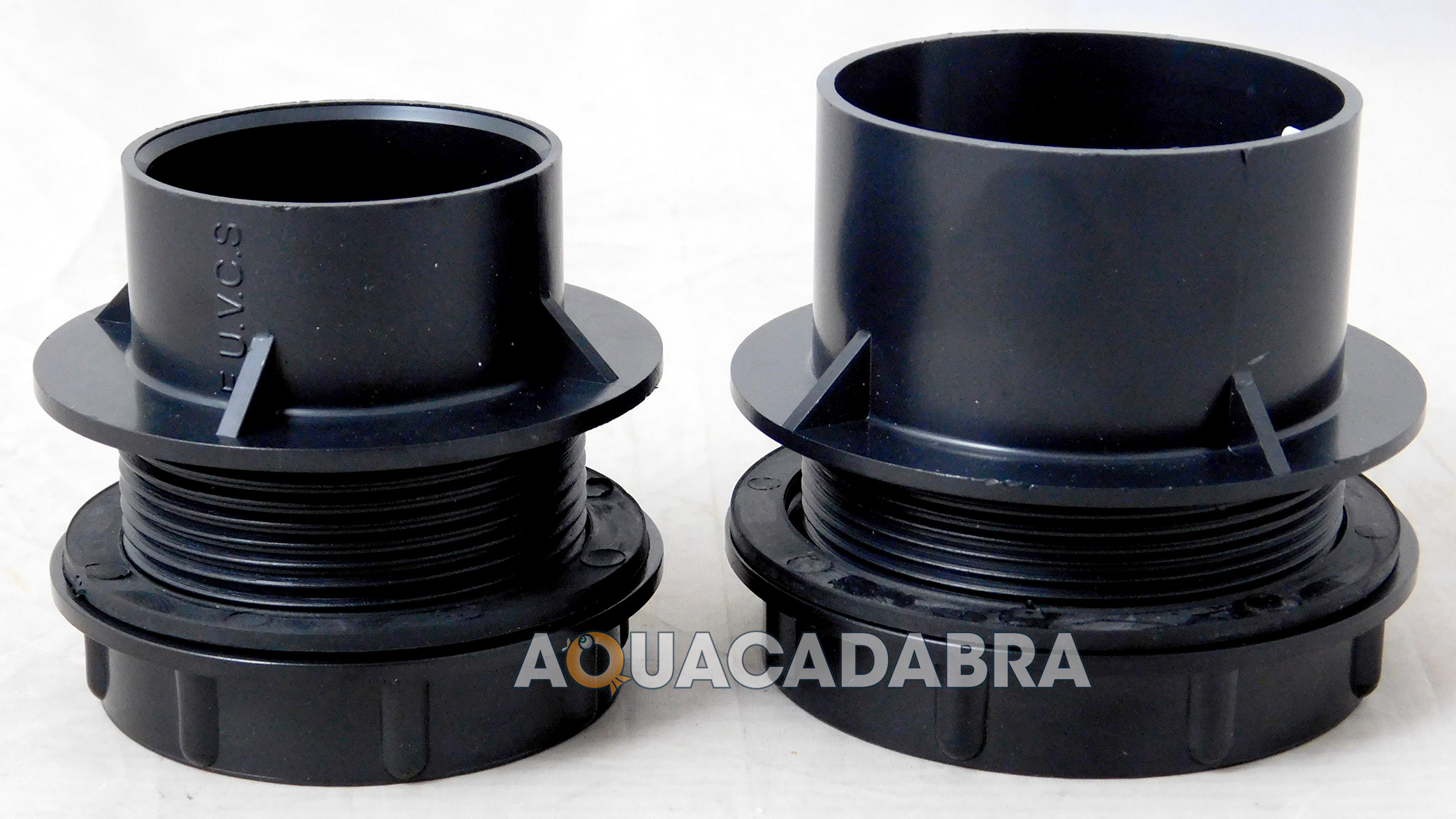Threaded Solvent Weld Tank Connector With Rubber Washer