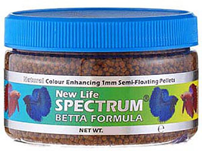 New life spectrum betta 50g siamese fighter fish food for Betta fish feeding