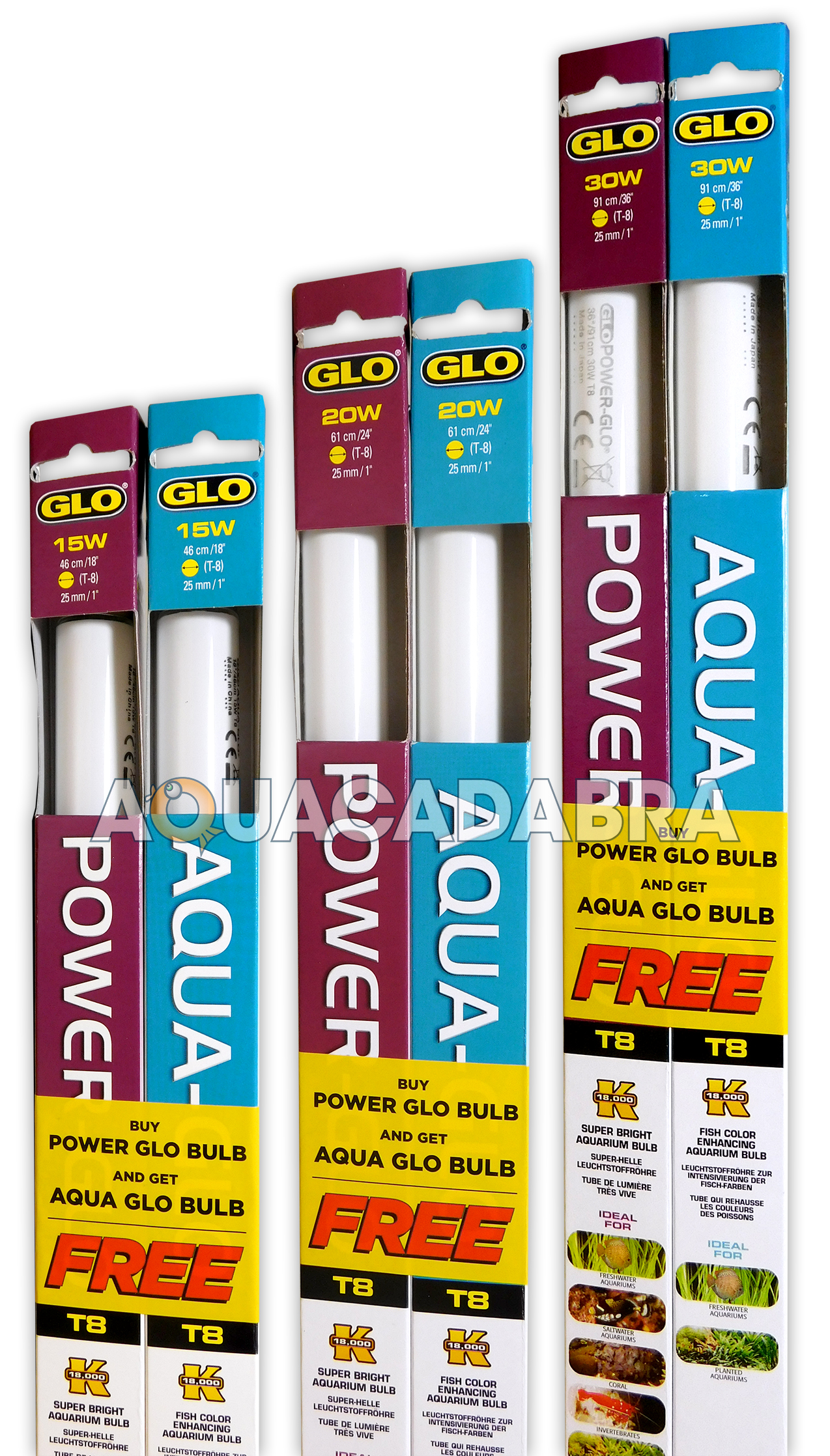 Power Glo With Free Aqua Glo 30w Light Bulbs T8 Lighting