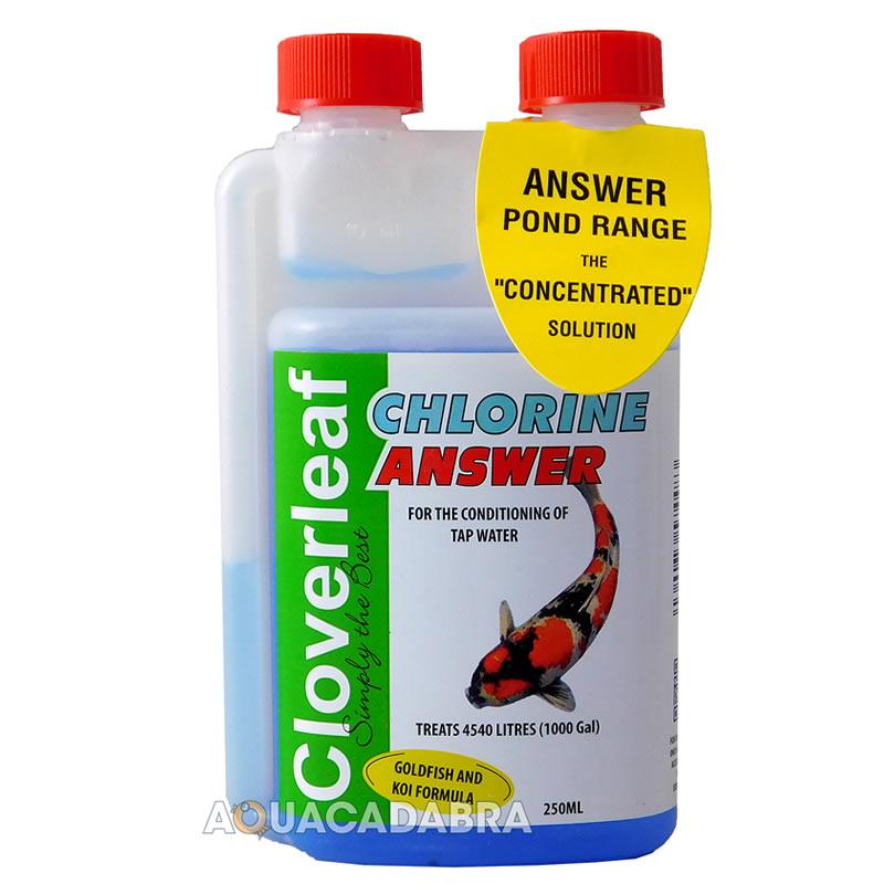 Cloverleaf Chlorine Answer Pond Tap Water Koi Goldfish