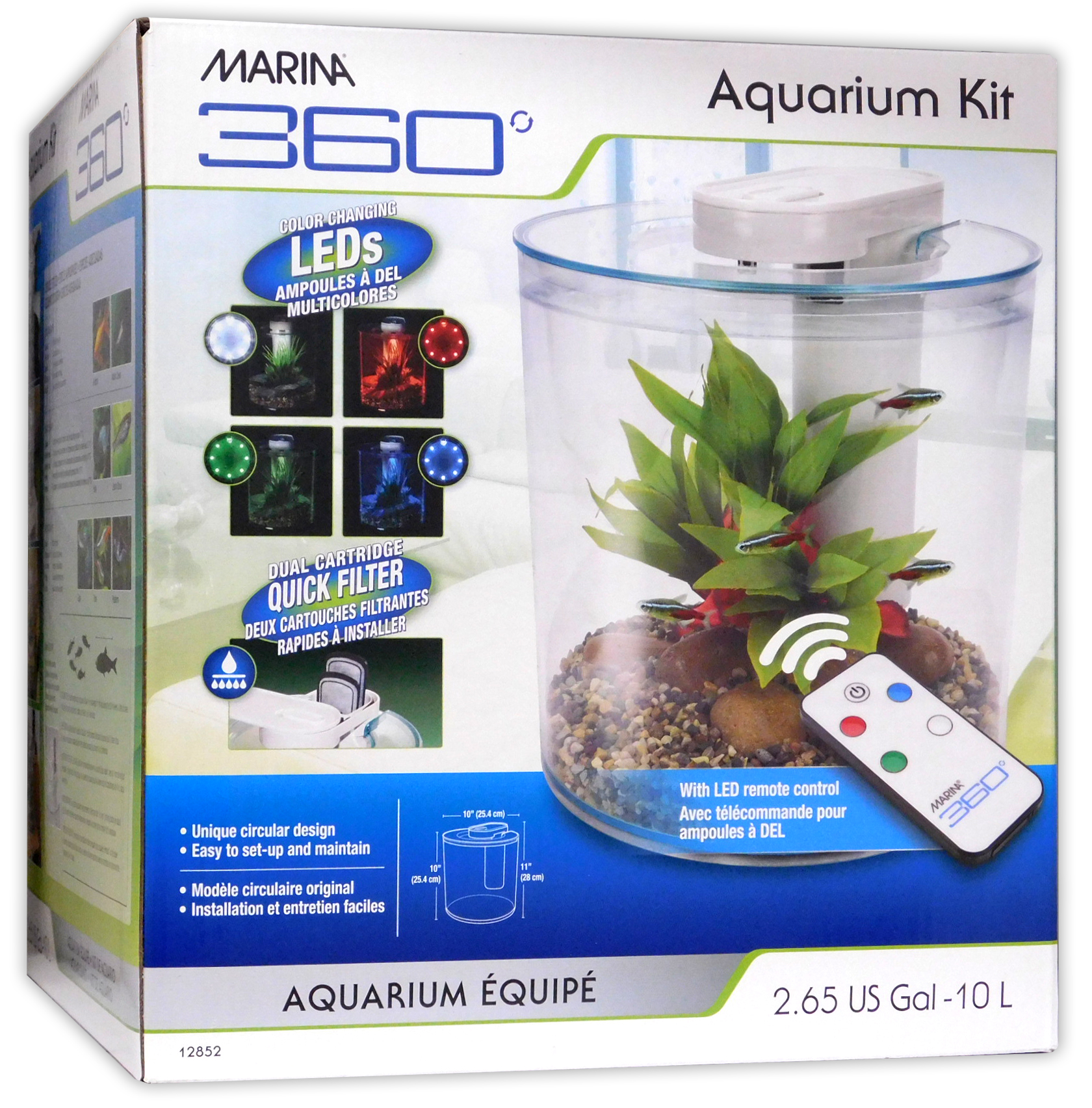 Aquarium Controller 10 Steps With Pictures: Marina 360 Aquarium LED Remote 4 Colours Fish Tank Filter