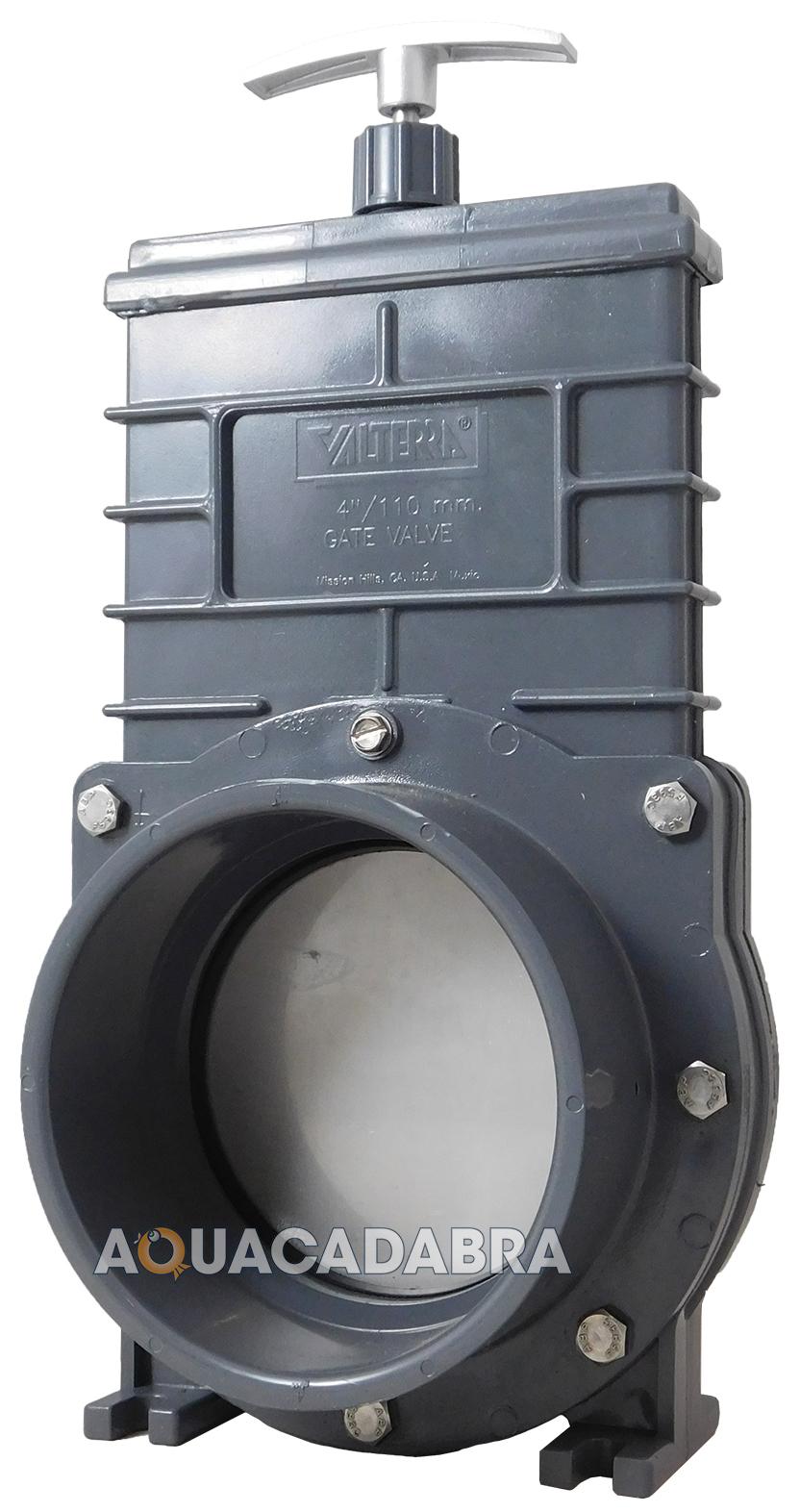 Valterra slide gate 110mm 4 valve genuine pond pool for Koi pond pool filter