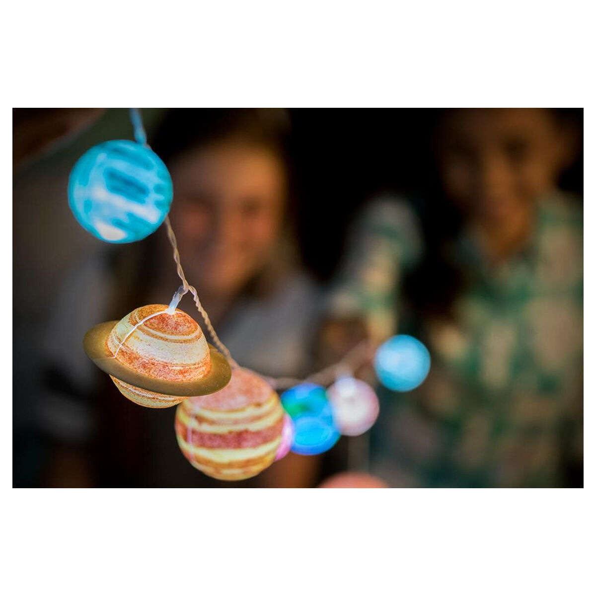 Details about STEAM Powered Kids - Solar System String Lights - Assemble  and paint
