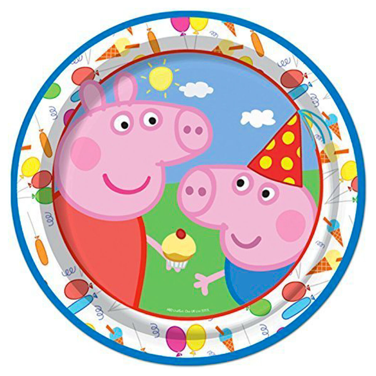 Deluxe Kit For 8 Guests Peppa Pig Carnival Party Tableware Supplies Childrens Birthday Party Kit for 8 16 24 32 Guests