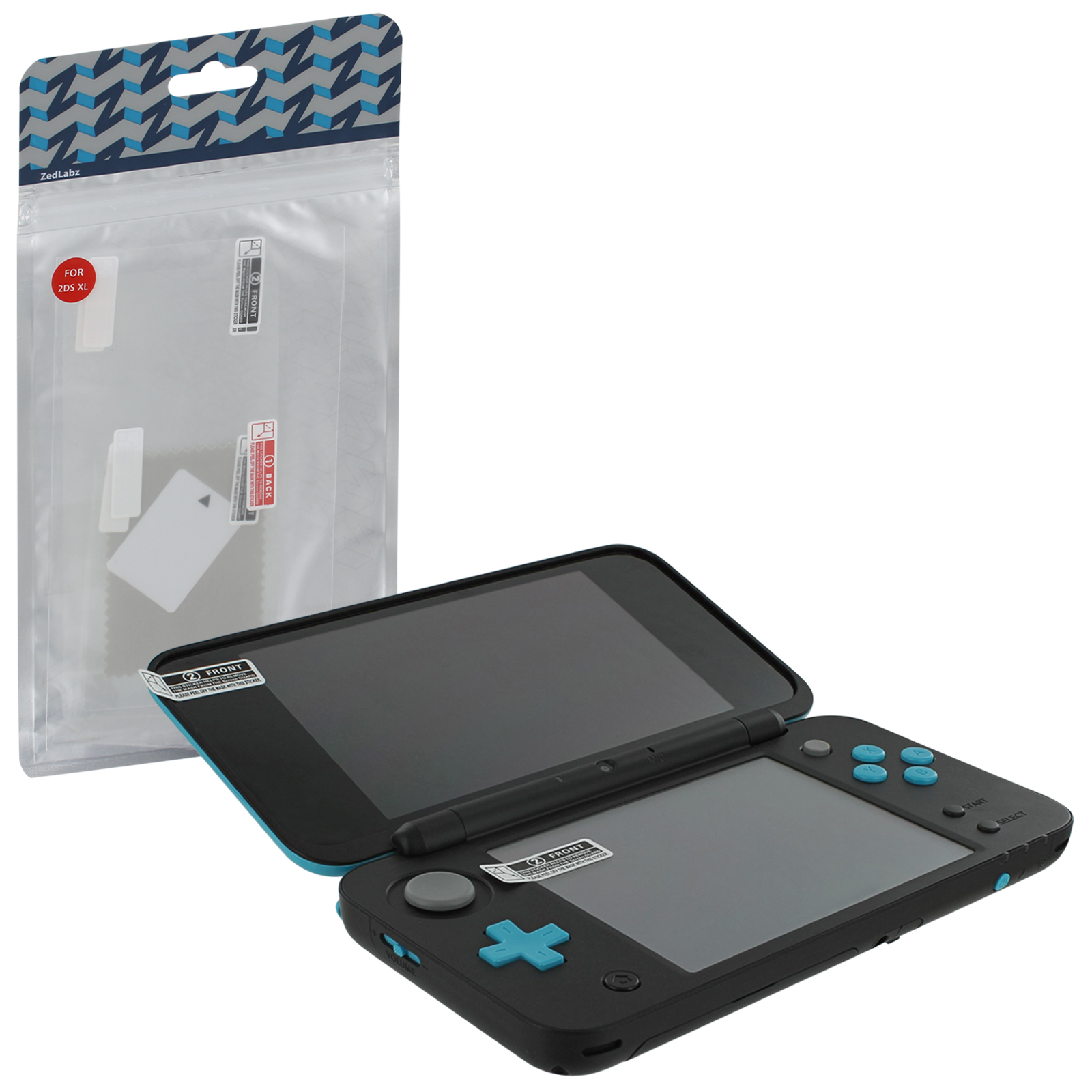 Zedlabz Ultra Clear Screen Protector Film Guard Set For Nintendo 2ds Xl Top & Bottom - 4 Pack