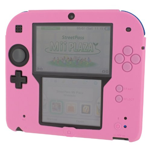 Zedlabz Soft Silicone Gel Protective Cover Rubber Bumper Case For Nintendo 2ds - Pink