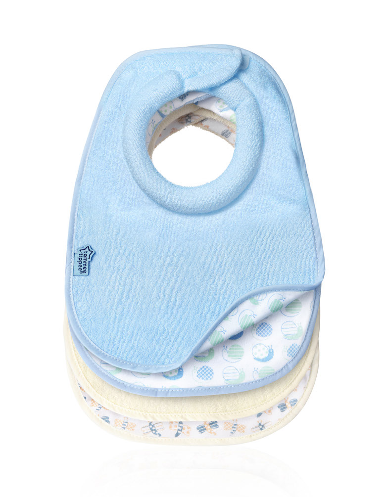 Tommee-Tippee-CTN-4-x-Milk-Feeding-Bibs-NEW-Reversible-Design