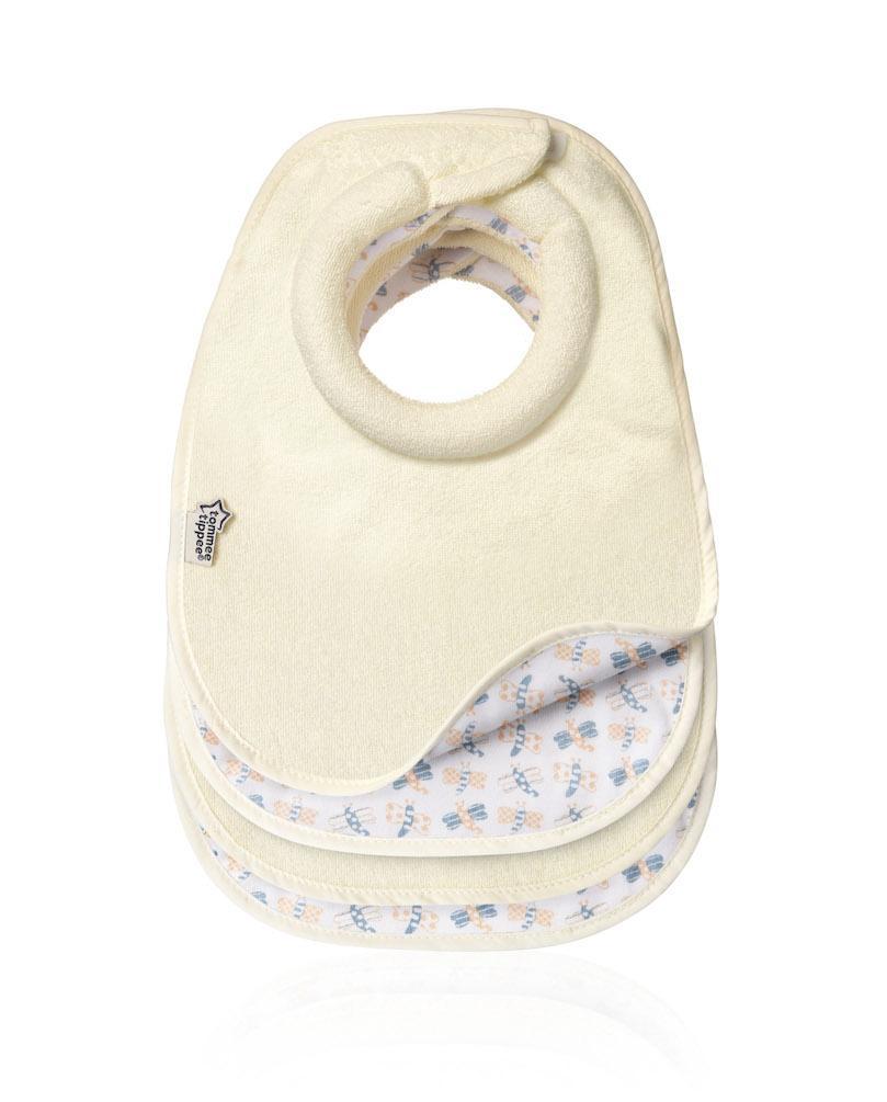 Tommee-Tippee-CTN-4-x-Milk-Feeding-Bibs-NEW-Reversible-Design