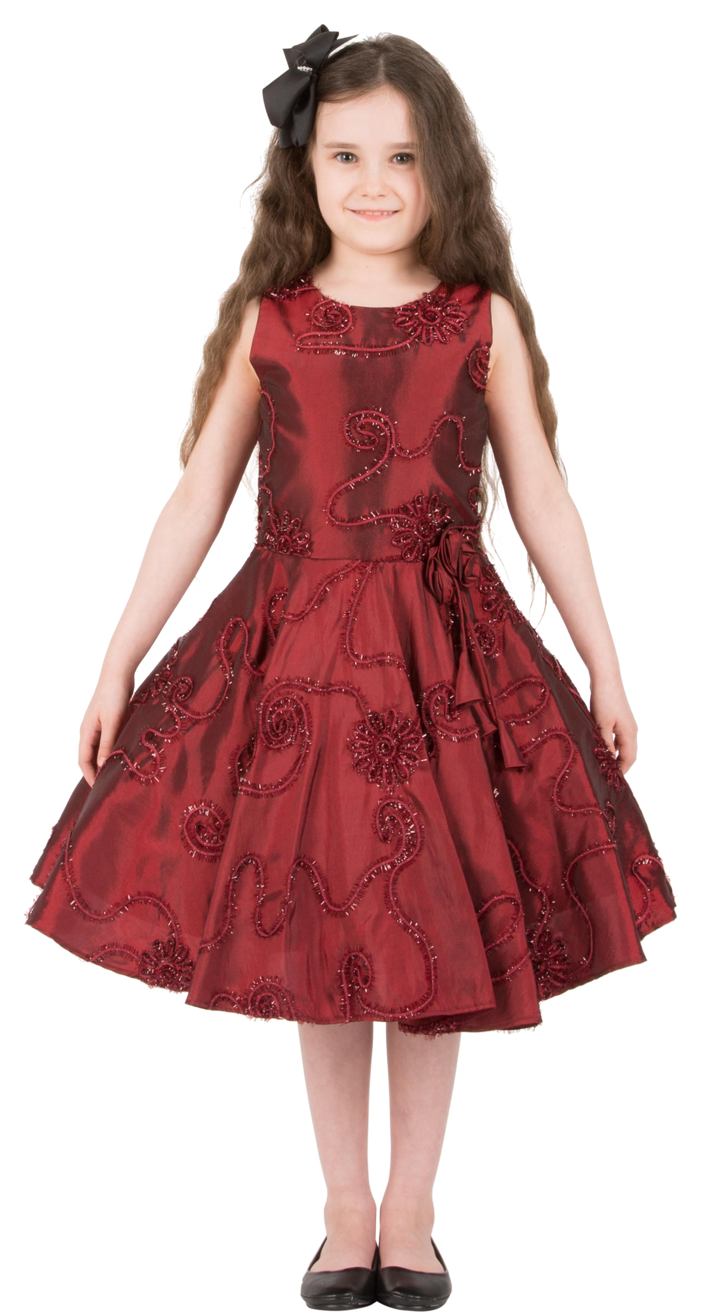 340039982085c Girls Kids Audrey Vintage Satin Floral 50 s Party Bridesmaid Prom ...